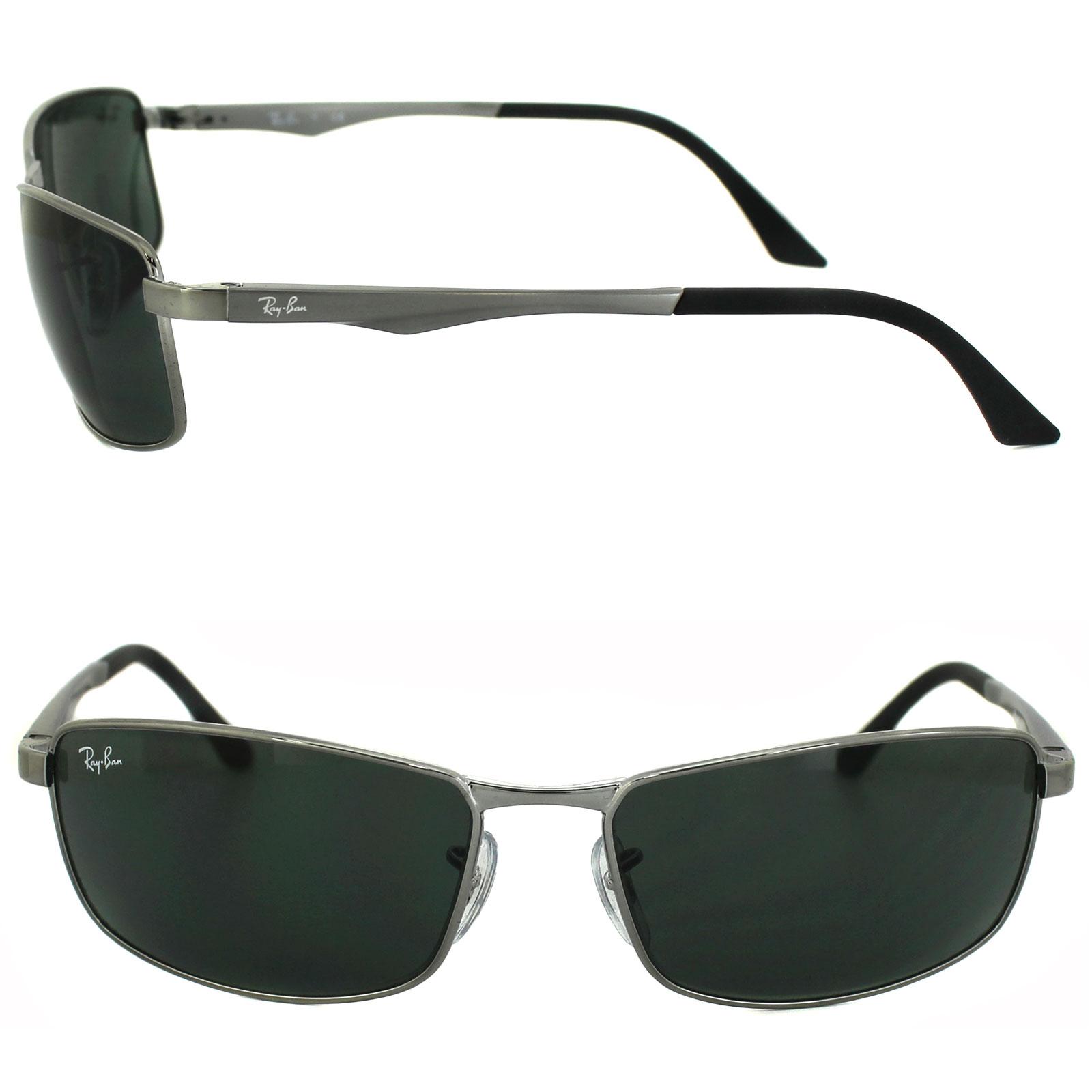 fd8e787727 RayBan Sunglasses 3498 004 71 Gunmetal Green