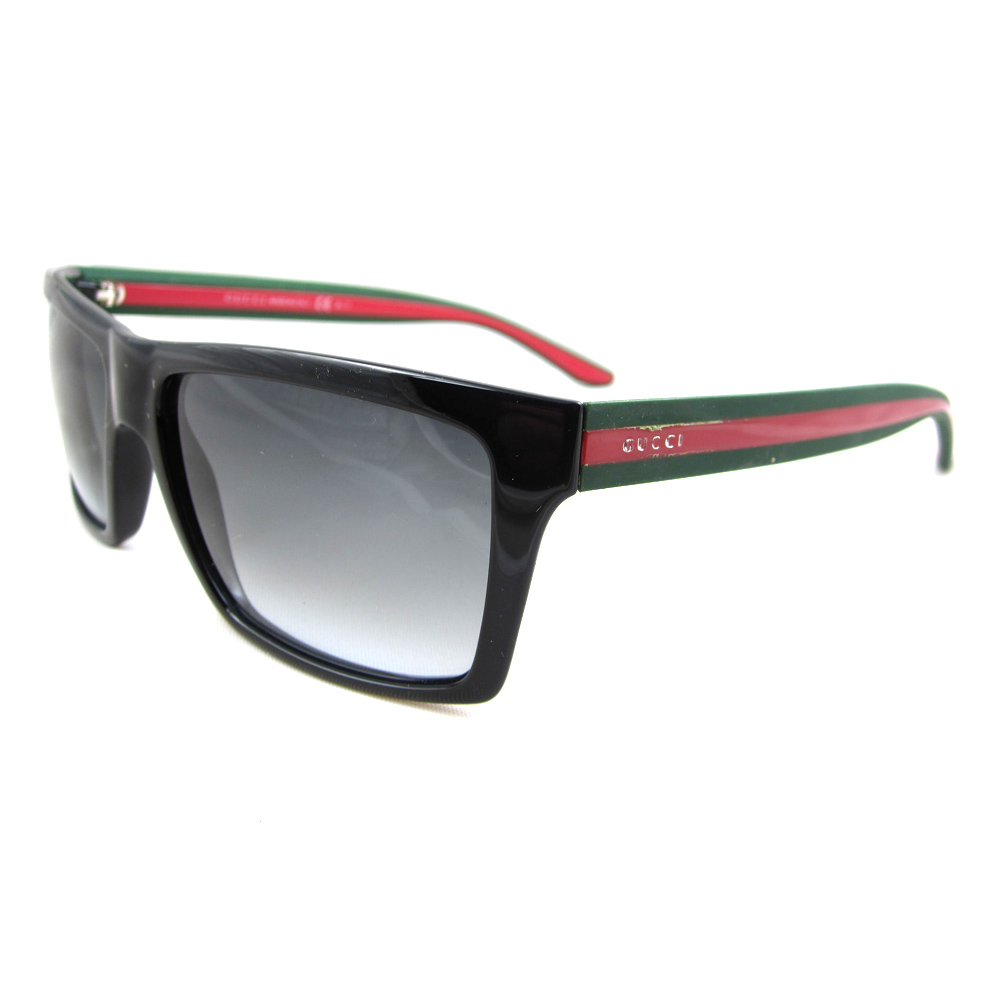 Gucci Sunglasses Ebay  gucci sunglasses 1013 51n pt shiny black green red grey