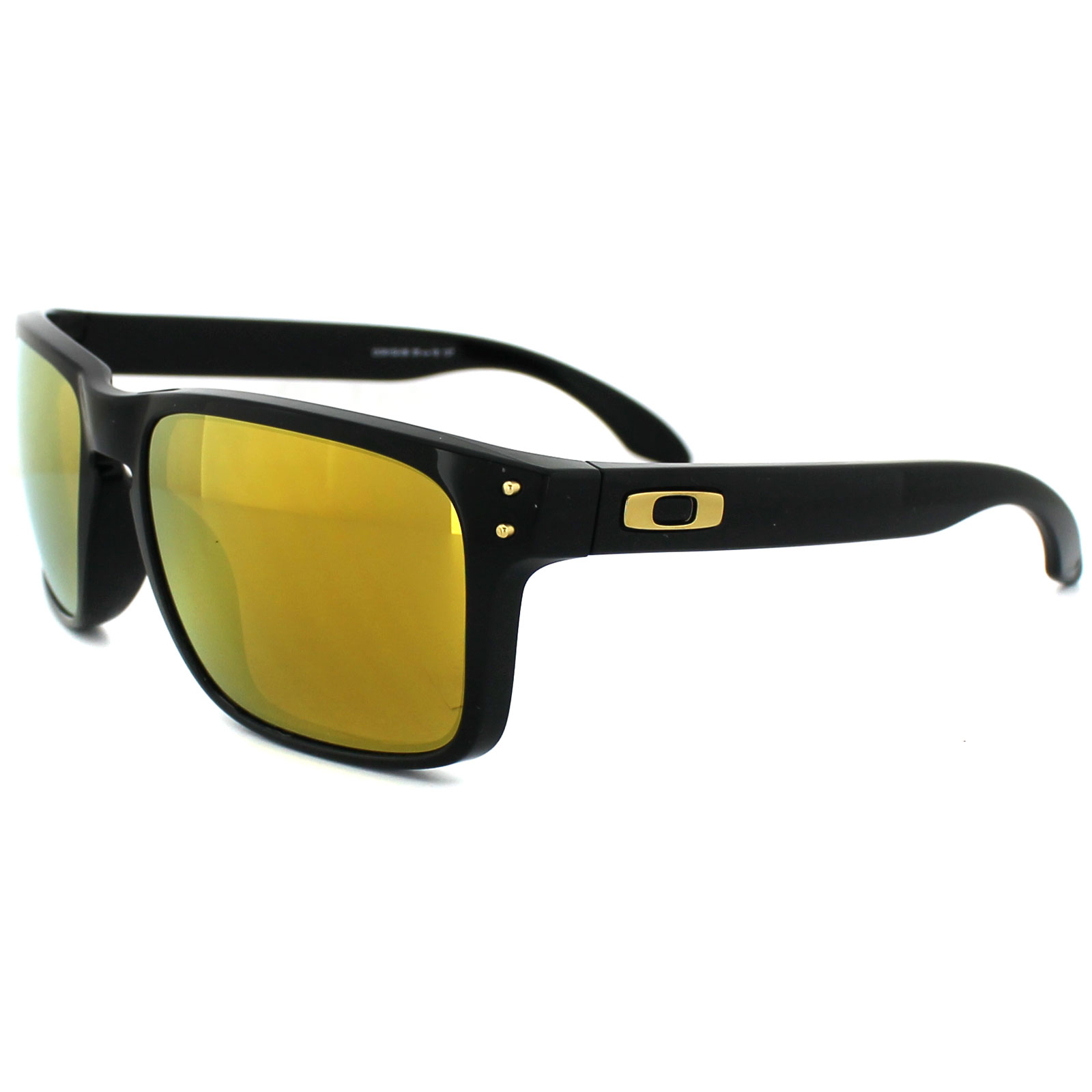 oakley lunettes de soleil holbrook 9102 08 poli noir 24k iridium shaun white ebay. Black Bedroom Furniture Sets. Home Design Ideas