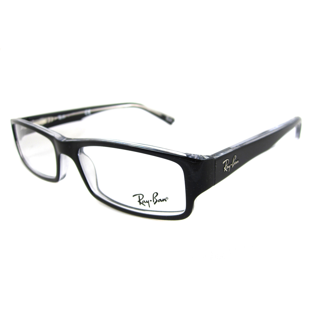 Glasses Top Frame Only : Ray-Ban Glasses Frames 5246 2034 Top Black On Transparent ...