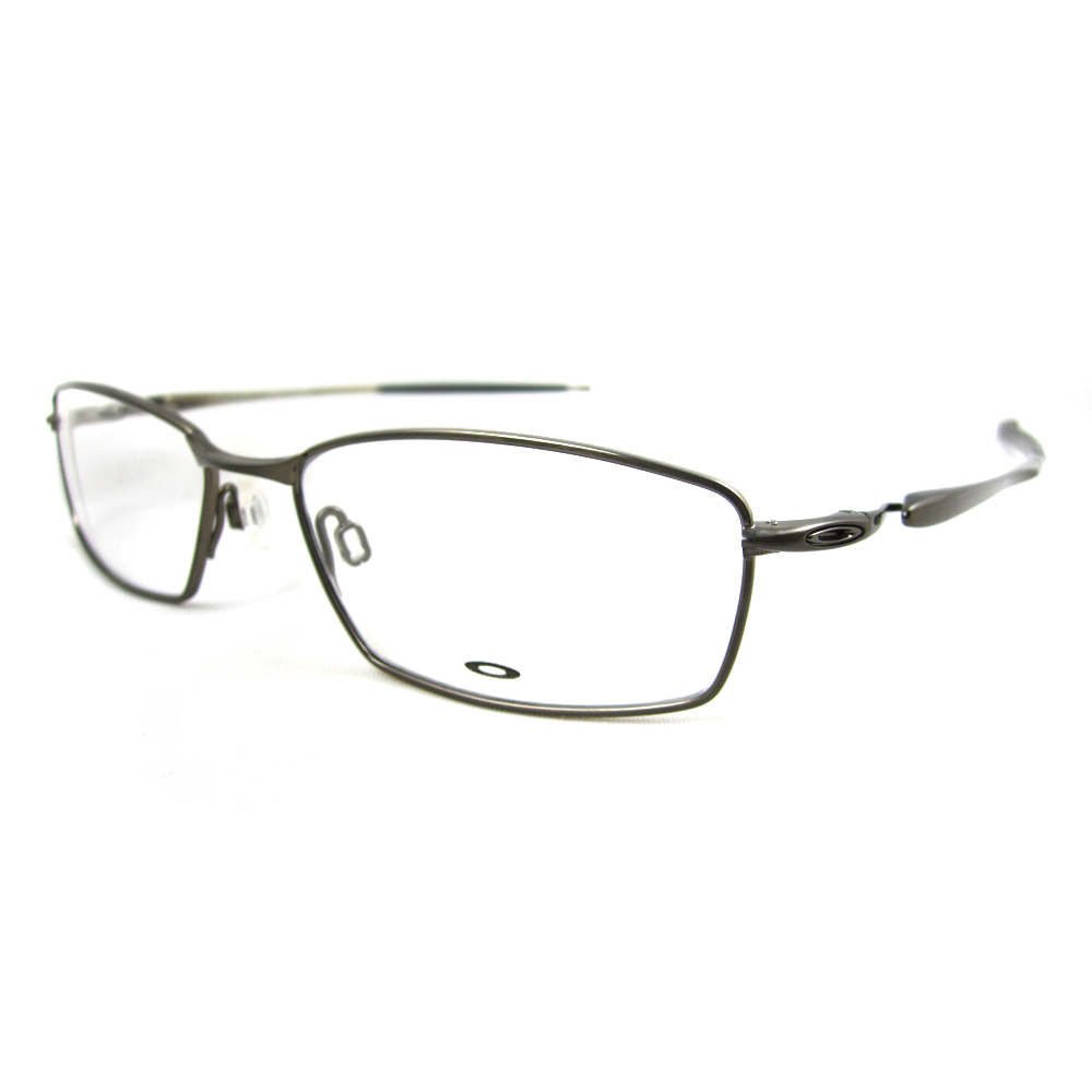oakley rx glasses frames capacitor 505502 brushed chrome