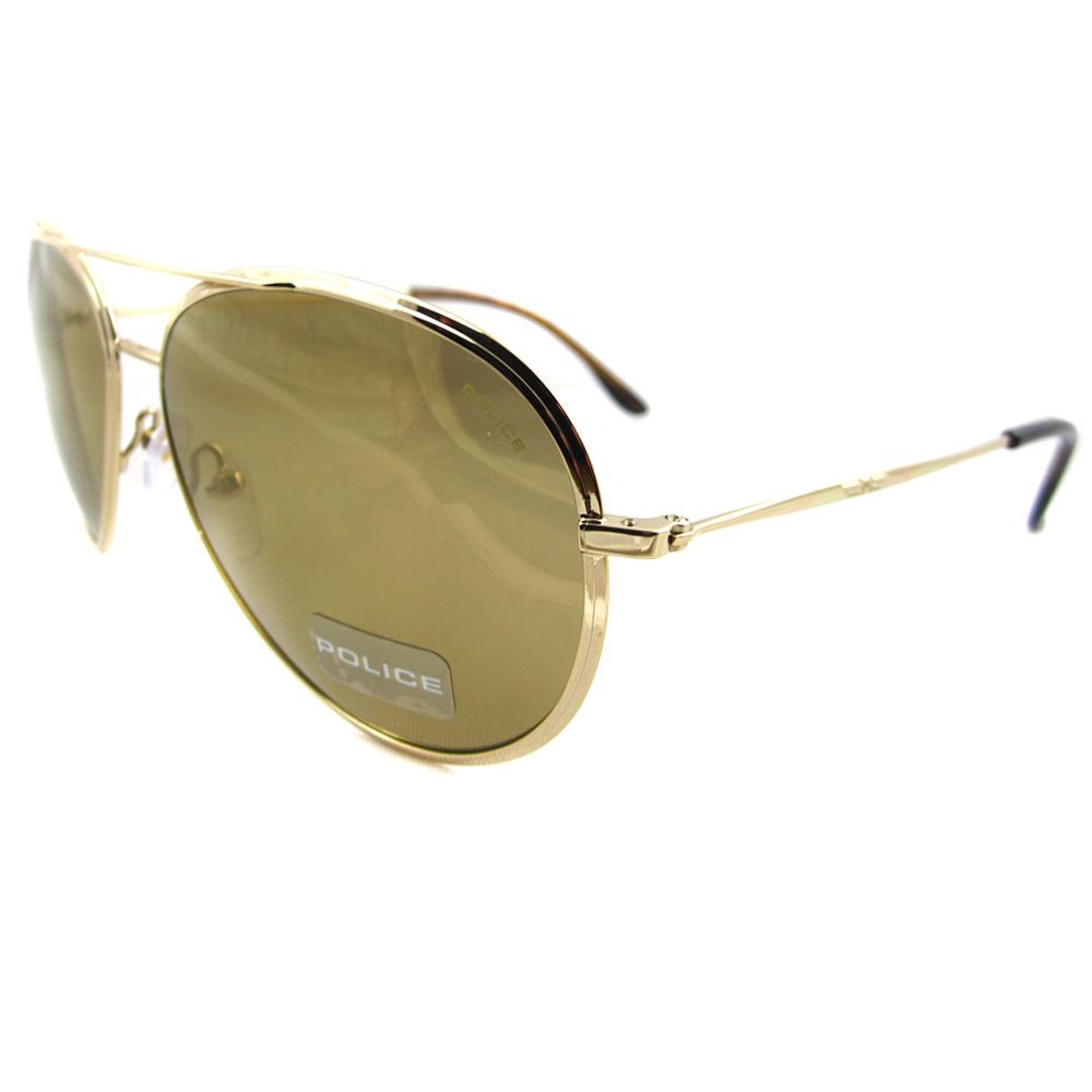 Gold Frame Police Sunglasses : Police Sunglasses 8299 300W Gold Gold Brown eBay