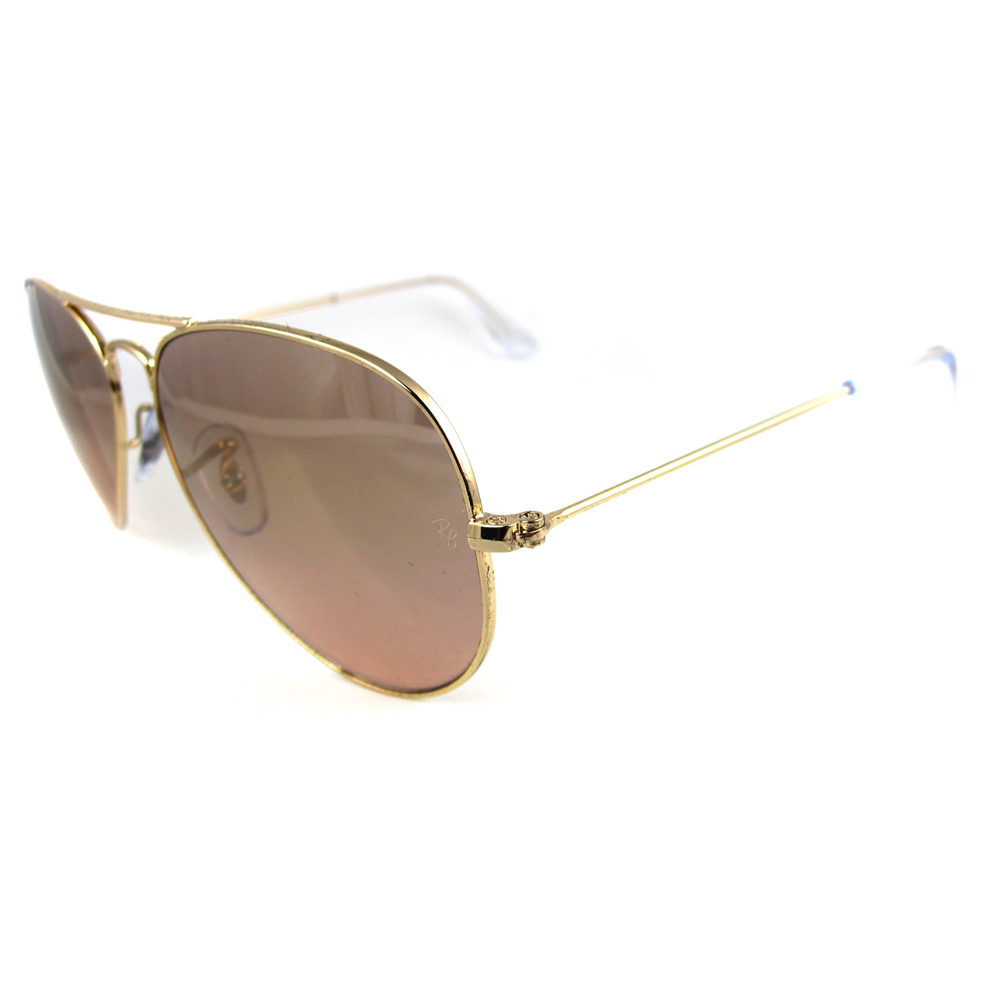 ray ban sunglasses aviator 3025 001 3e gold pink silver mirror 55 and 58mm ebay. Black Bedroom Furniture Sets. Home Design Ideas