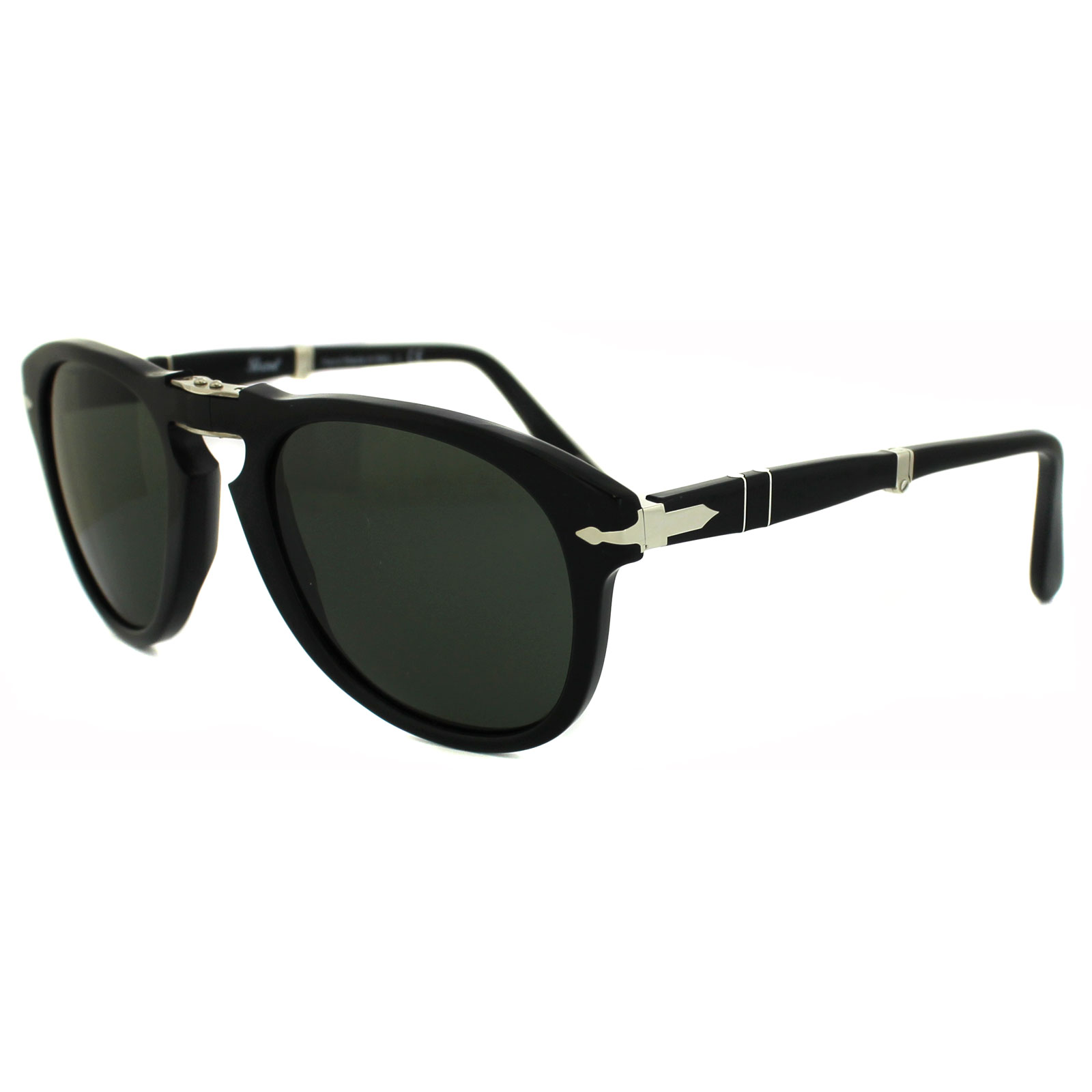 Steve Mcqueen Persol Sunglasses  persol sunglasses 714 95 31 black green folding steve mcqueen 52mm