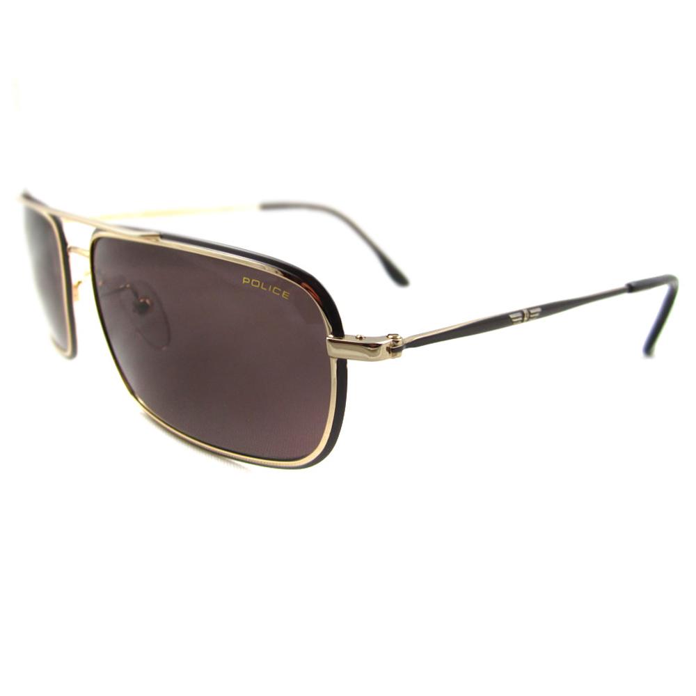Gold Frame Police Sunglasses : Police Sunglasses 8636 H12 Gold Brown eBay