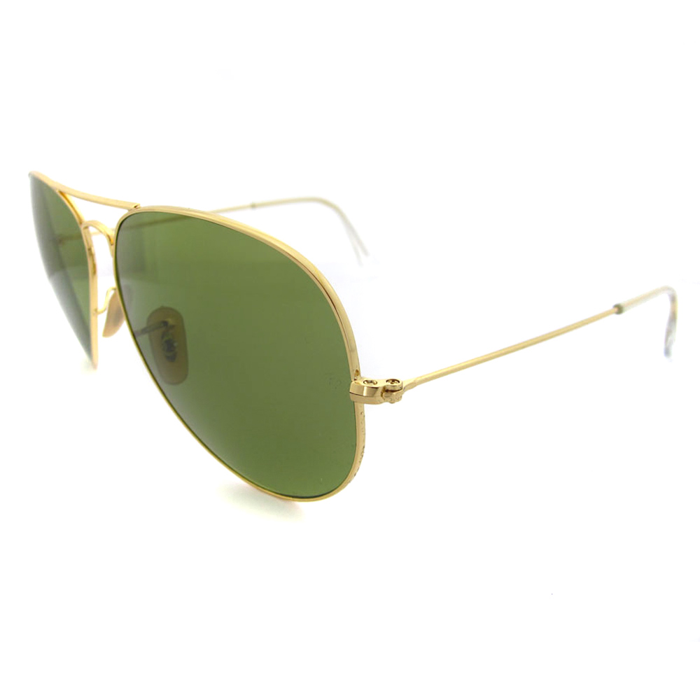 ray ban aviator large polarized  RayBan Sunglasses Aviator 3025 001/P1 Shiny Gold Green Polarized ...