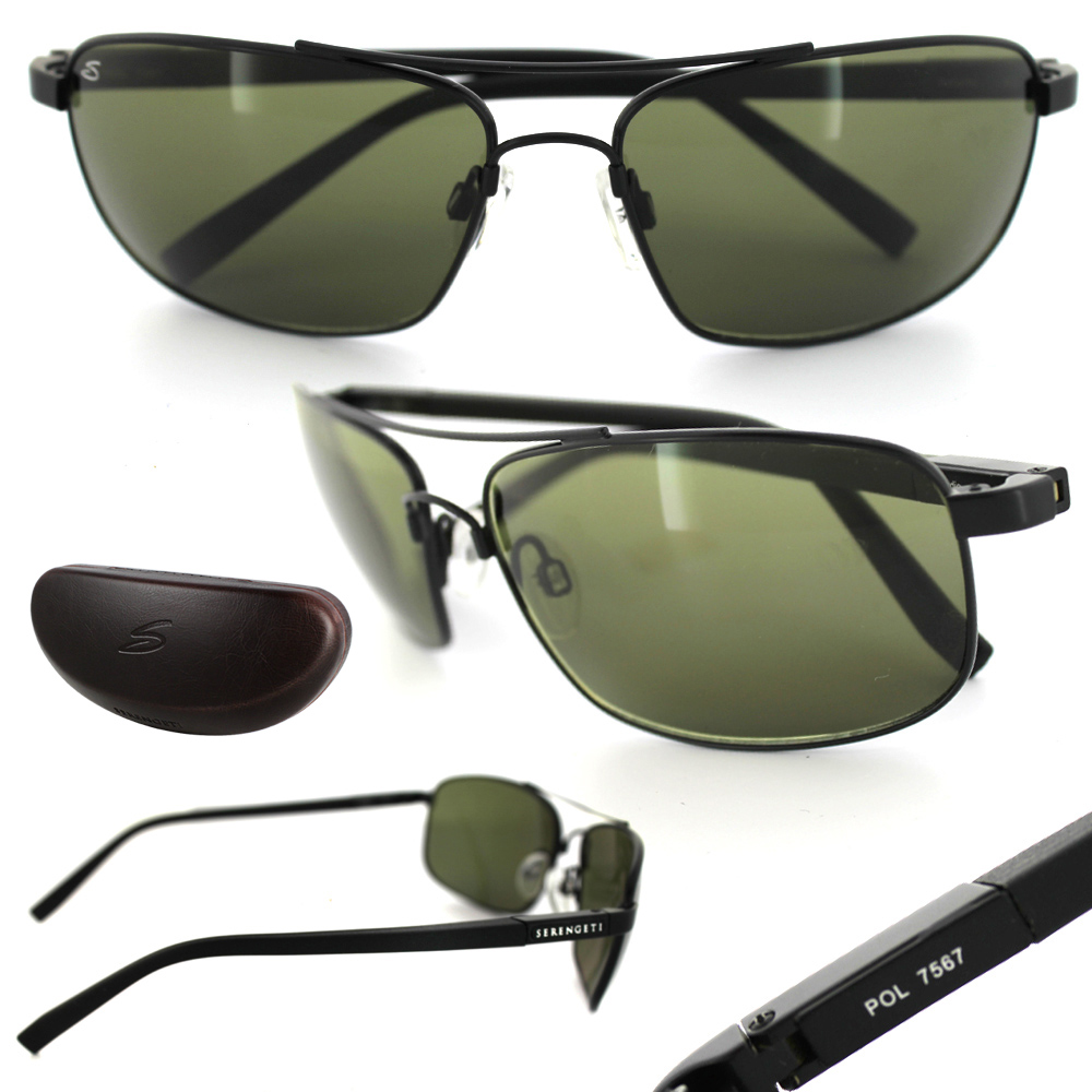 Serengeti Palladio Sunglasses  serengeti sunglasses palladio 7567 satin black grey green