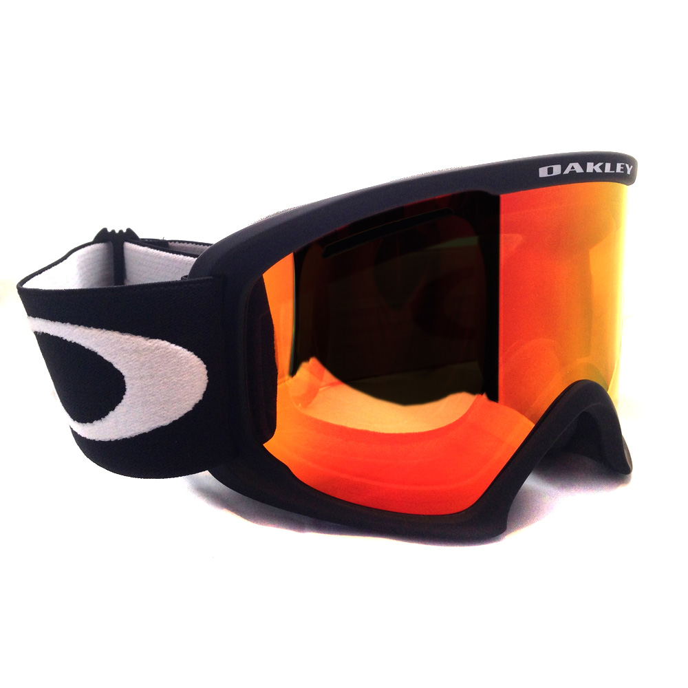 oakley snow glasses  Oakley Ski Snow Goggles 02 XL 59-084 Matte Black Fire Iridium