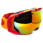 View Item Oakley Ski Goggles Airbrake 59-132 Orange Golden Poppy Fire Iridium & Persimmon
