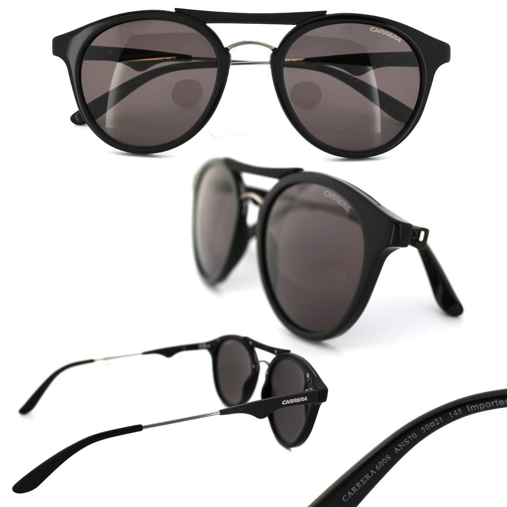 carrera sunglasses  Carrera Sunglasses Carrera 6008 ANS 70 Black Dark Ruthenium Brown ...