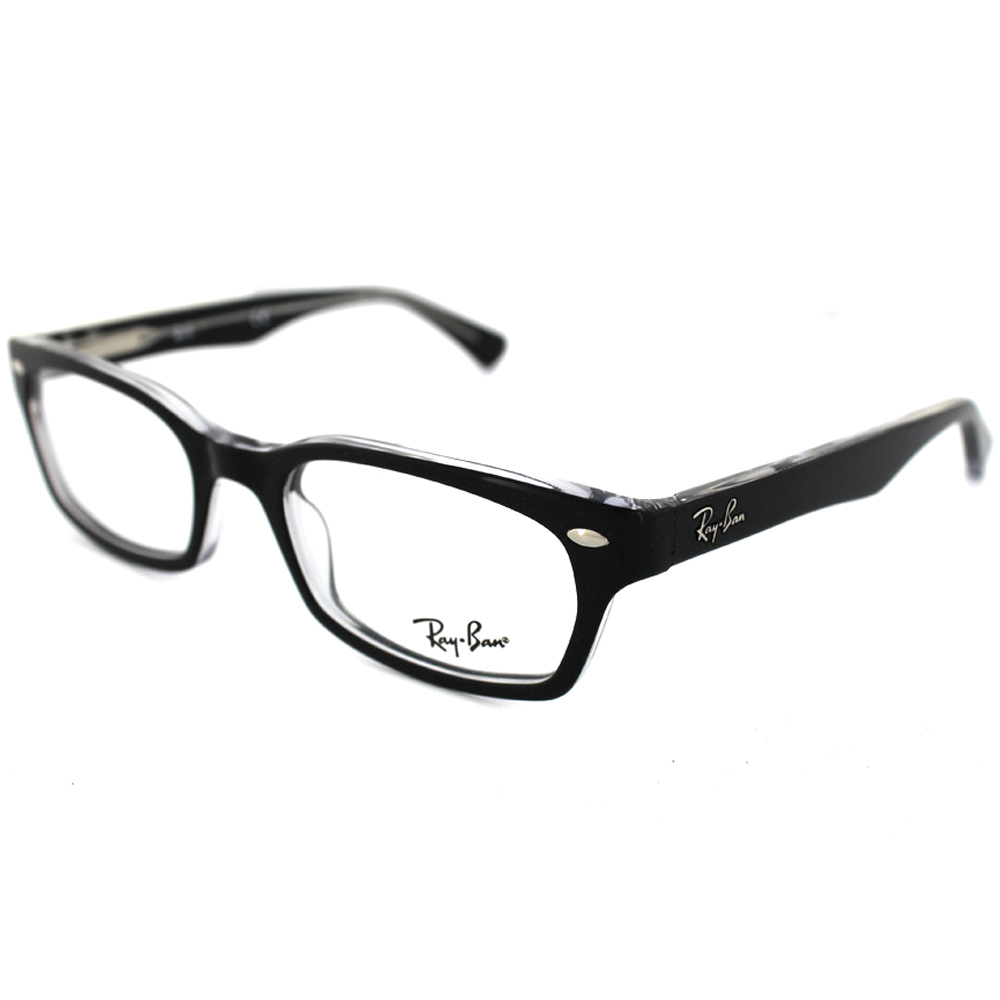 Ray-Ban Glasses Frames 5150 2034 Top Black On Transparent ...