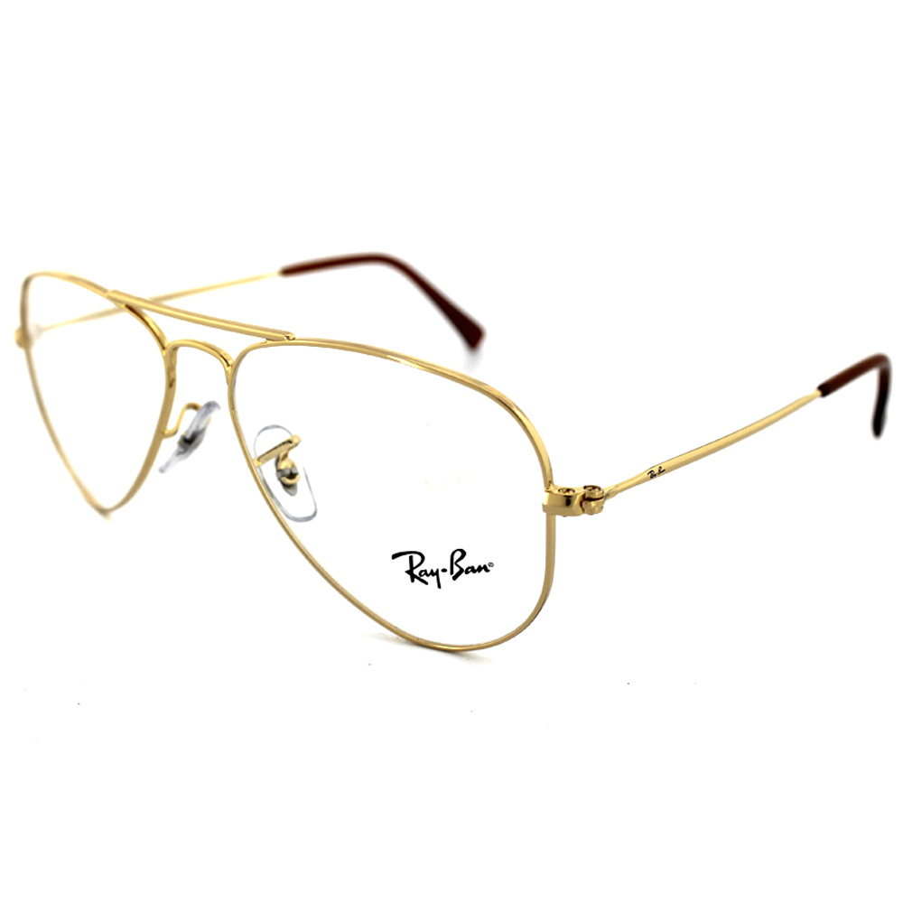 Gold Frame Ray Ban Sunglasses : Ray-Ban Glasses Frames 6049 2500 Gold Blank Demo Lens eBay