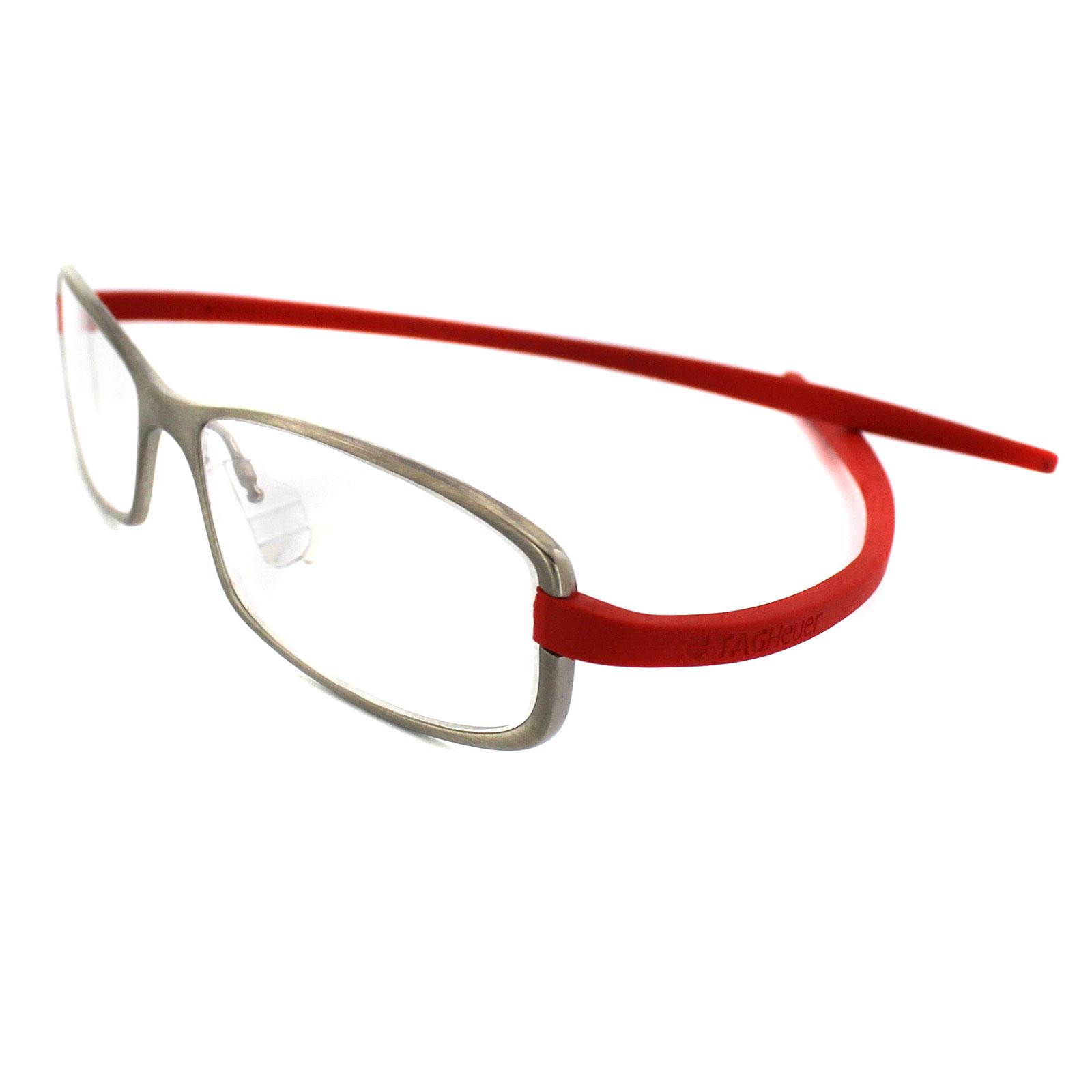 Eyeglass Frame Tag Heuer : Tag Heuer Glasses 3705 004 Ceramic Titanium Frames & Red ...