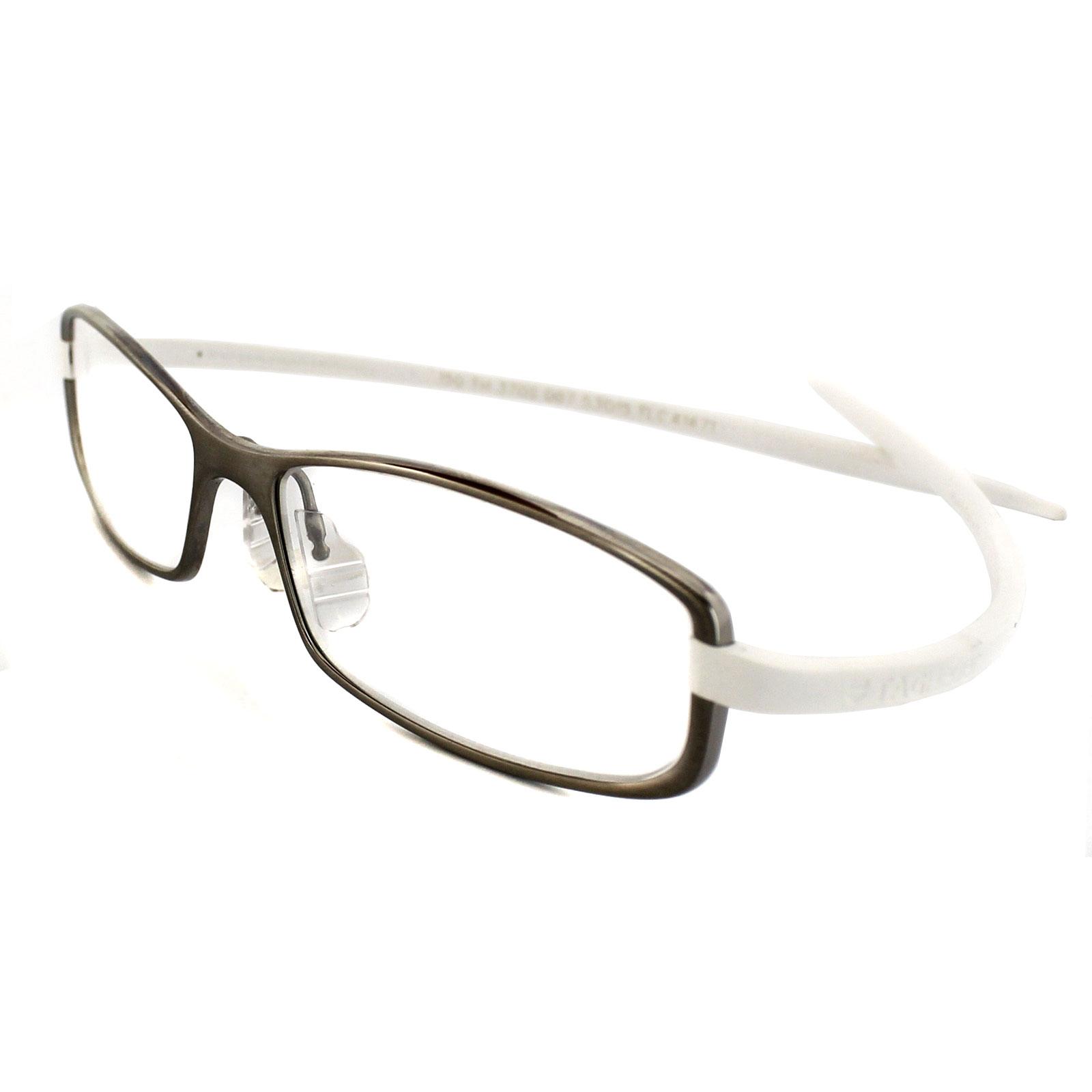 Tag heuer eyeglasses frames uk - Sentinel Tag Heuer Glasses 3705 007 Ceramic Titanium Frames White Rubber Arms