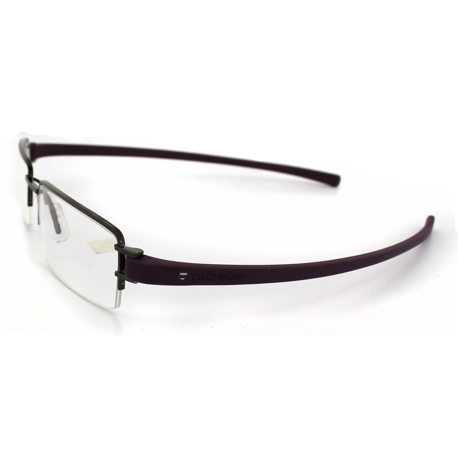 tag heuer glasses 7206 008 brushed silver frames violet