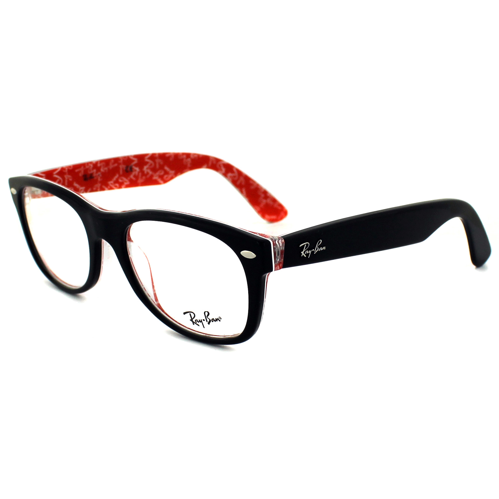 Ray Ban Red And Black Eyeglasses