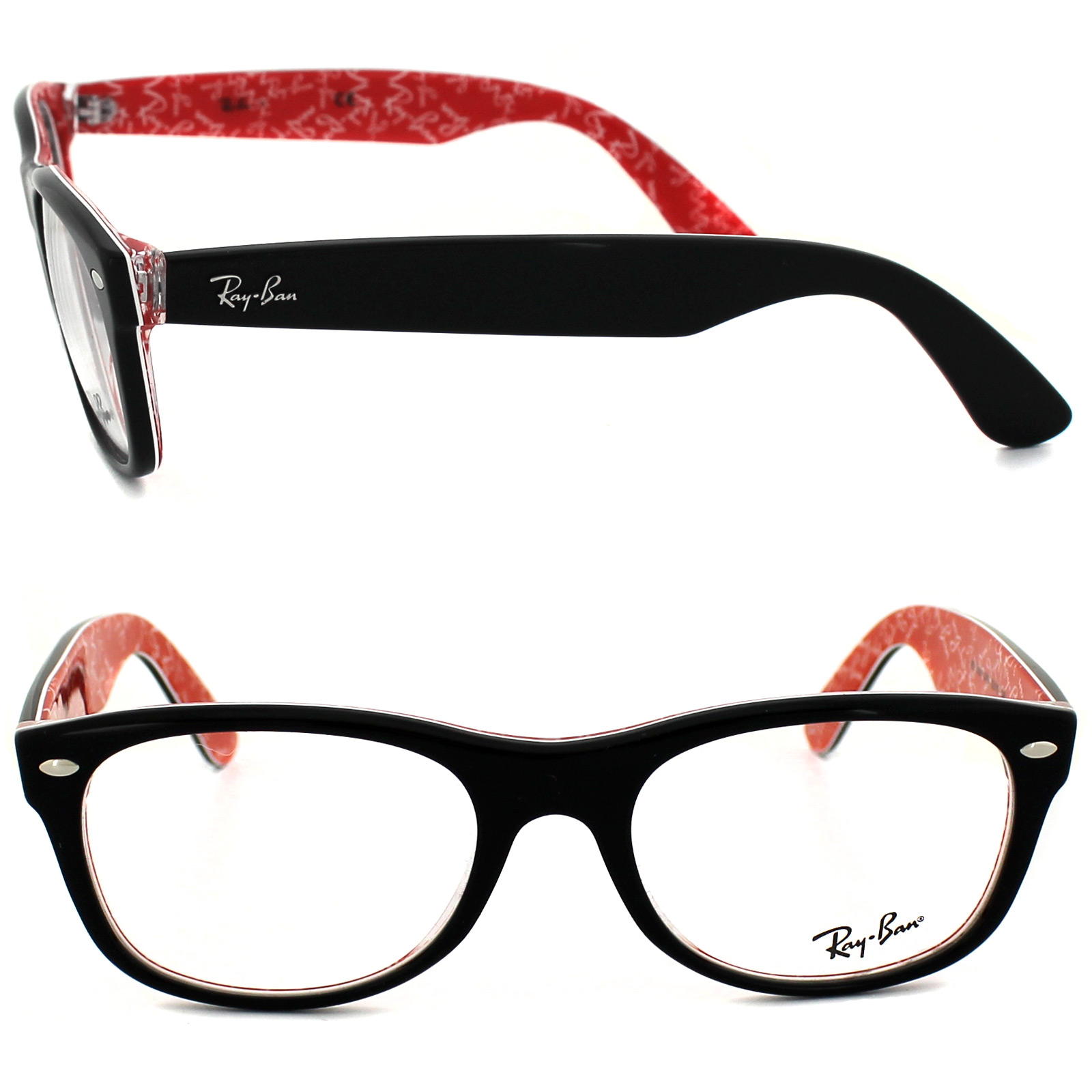 Ray-Ban Glasses Frames 5184 2479 Top Black On Texture Red ...