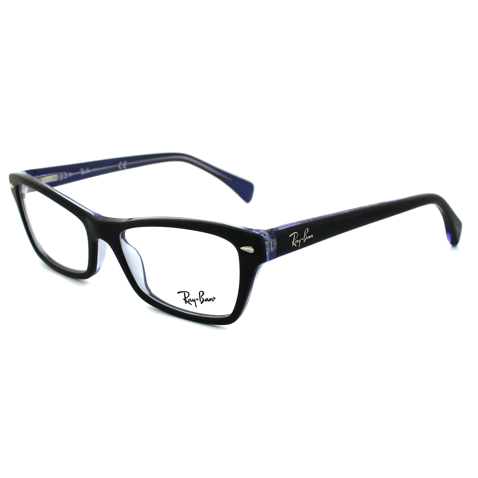 sentinel ray ban glasses frames 5256 5190 top black on violet