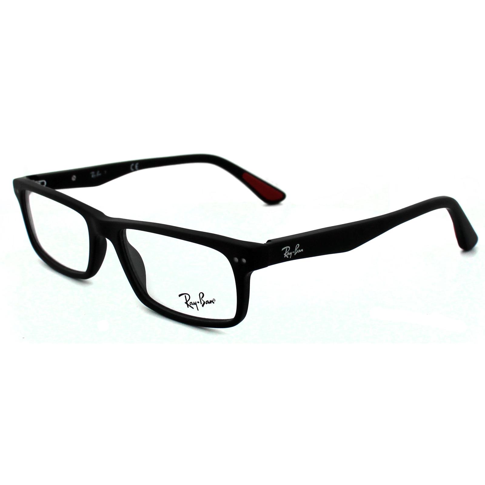 sentinel ray ban glasses frames 5277 2077 sandblasted black