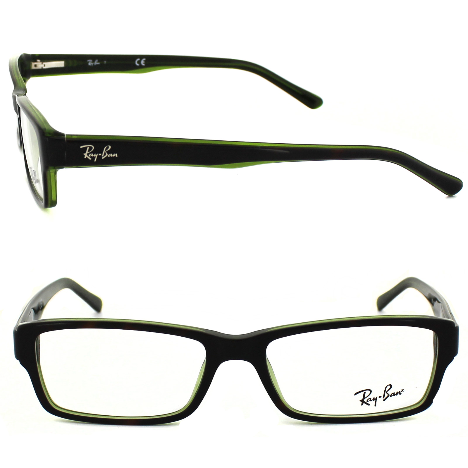 Green Frame Ray Ban Glasses : Ray-Ban Glasses Frames 5169 2383 Top Havana On Green ...