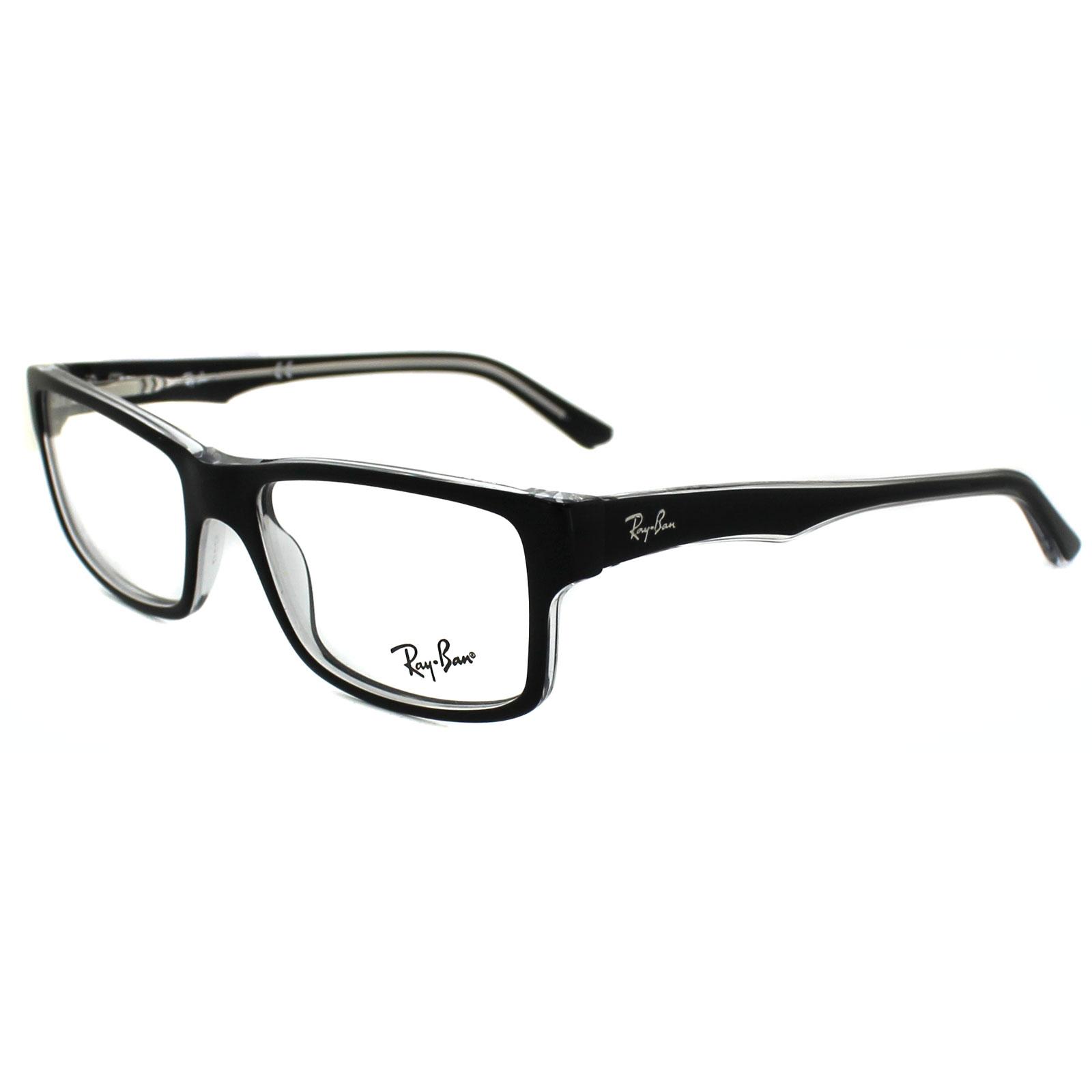 Black Top Frame Glasses : Ray-Ban Glasses Frames 5245 2034 Top Black On Transparent ...