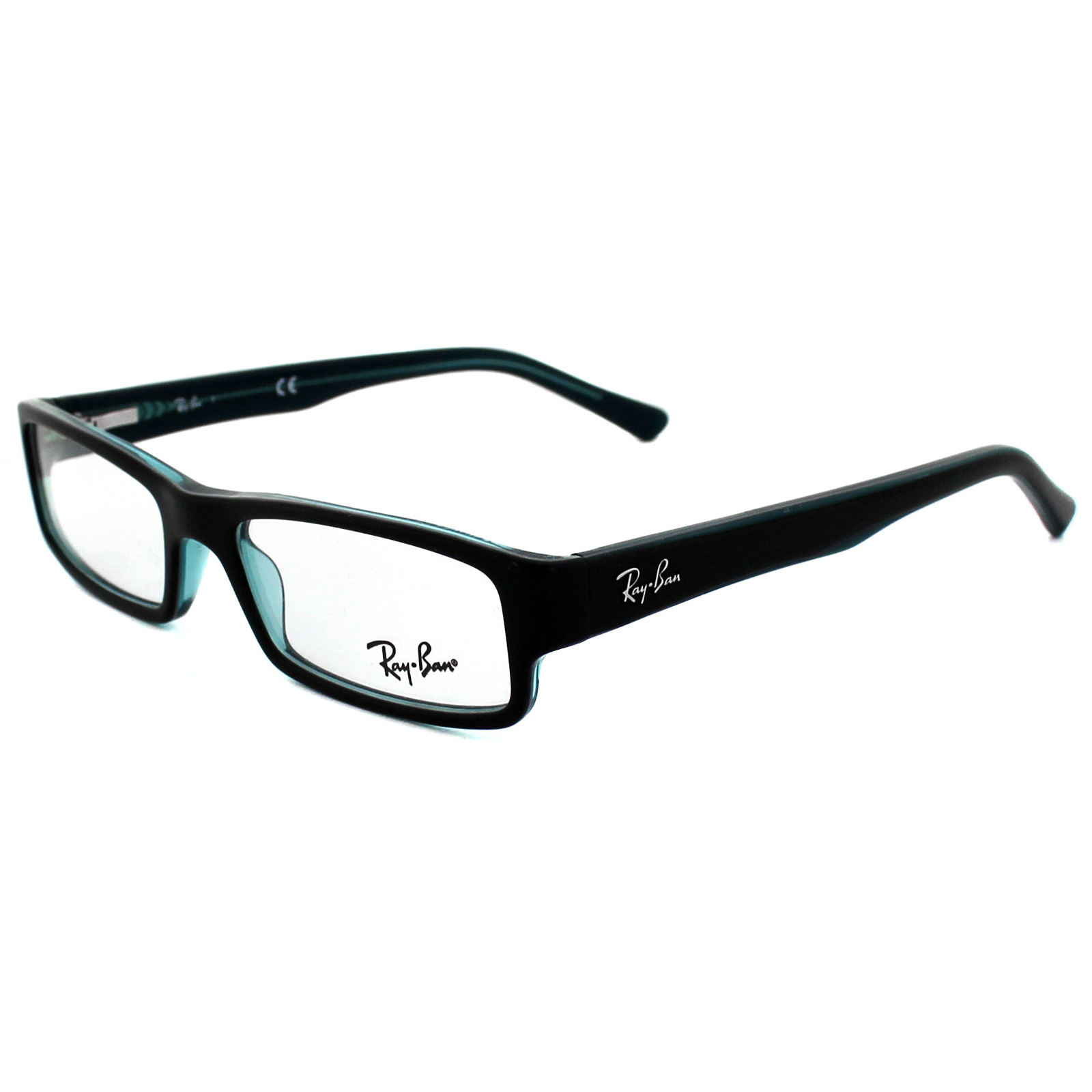 Ray Ban Glasses Large Frame : Ray-Ban Glasses Frames 5246 5092 Black Grey Turquoise