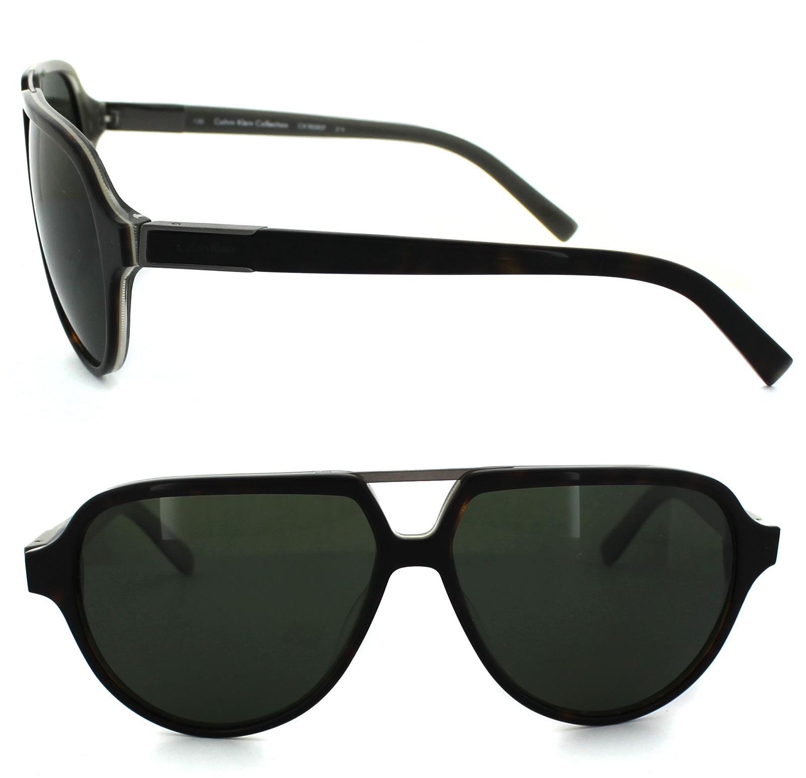 Calvin Klein Sunglasses 7858SP 214 Havana Grey Green Polarized | eBay