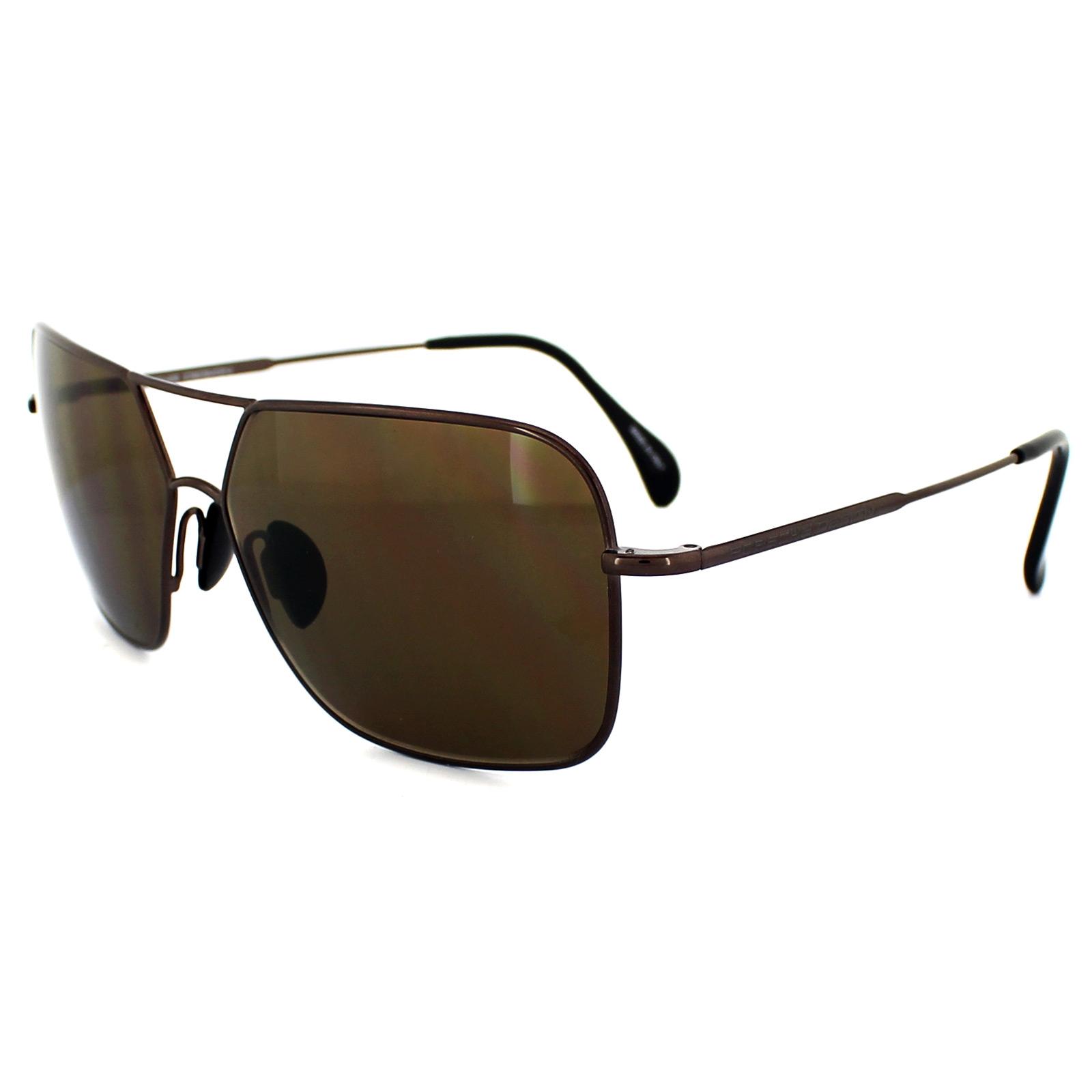 porsche design lunettes de soleil p8512 c bronze brun ebay. Black Bedroom Furniture Sets. Home Design Ideas