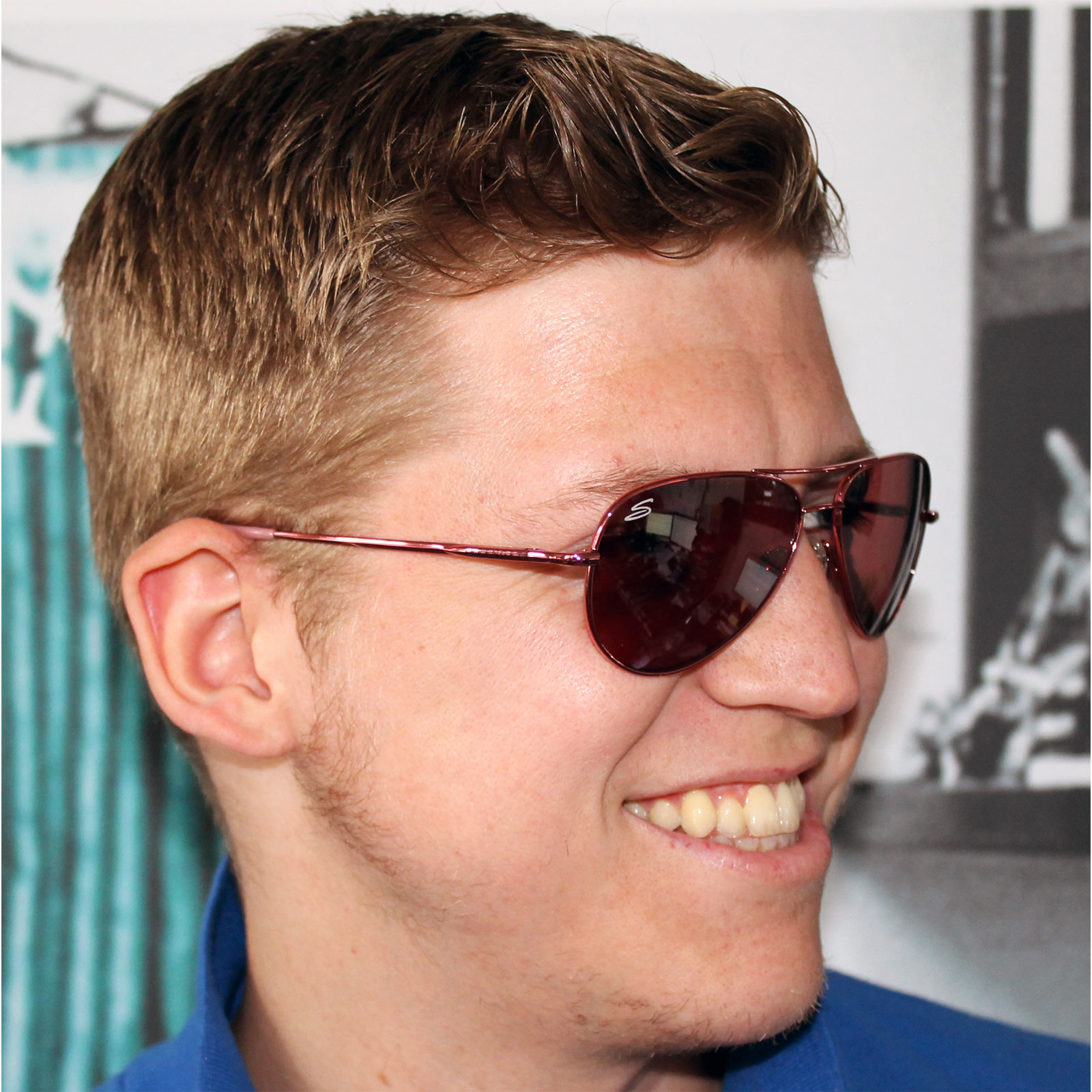 Aviator sunglasses for small face -  Serengeti Small Aviator Sunglasses Thumbnail 3