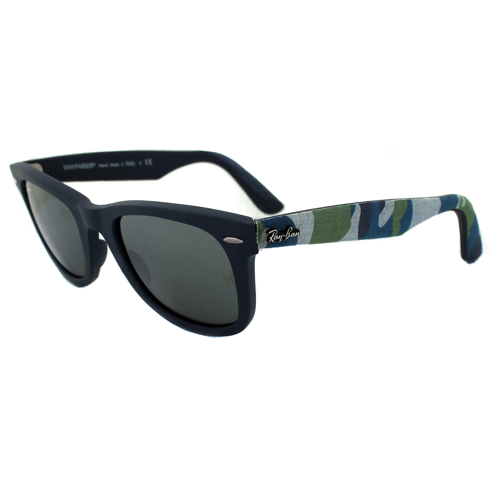 where can i buy cheap ray ban sunglasses  Ray-Ban Sunglasses Wayfarer 2140 606140 Urban Camo Matt Blue Grey ...