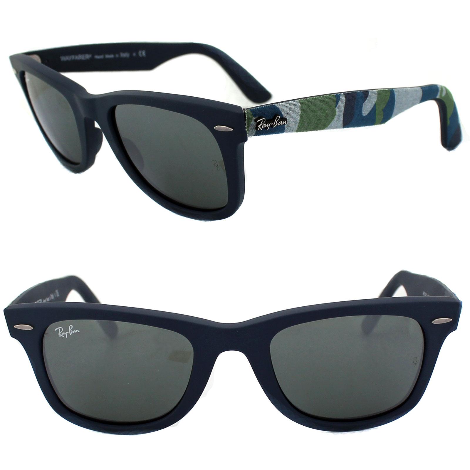 Ray ban occhiali da sole wayfarer 2140 606140 mimetico - Ray ban a specchio blu ...