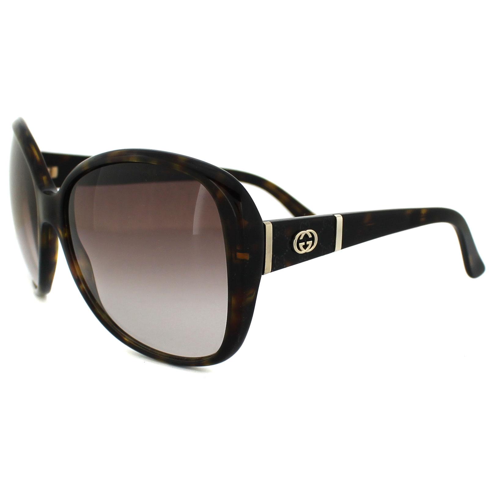 gucci sonnenbrille 3126 086 s2 dark havana brown gradient. Black Bedroom Furniture Sets. Home Design Ideas