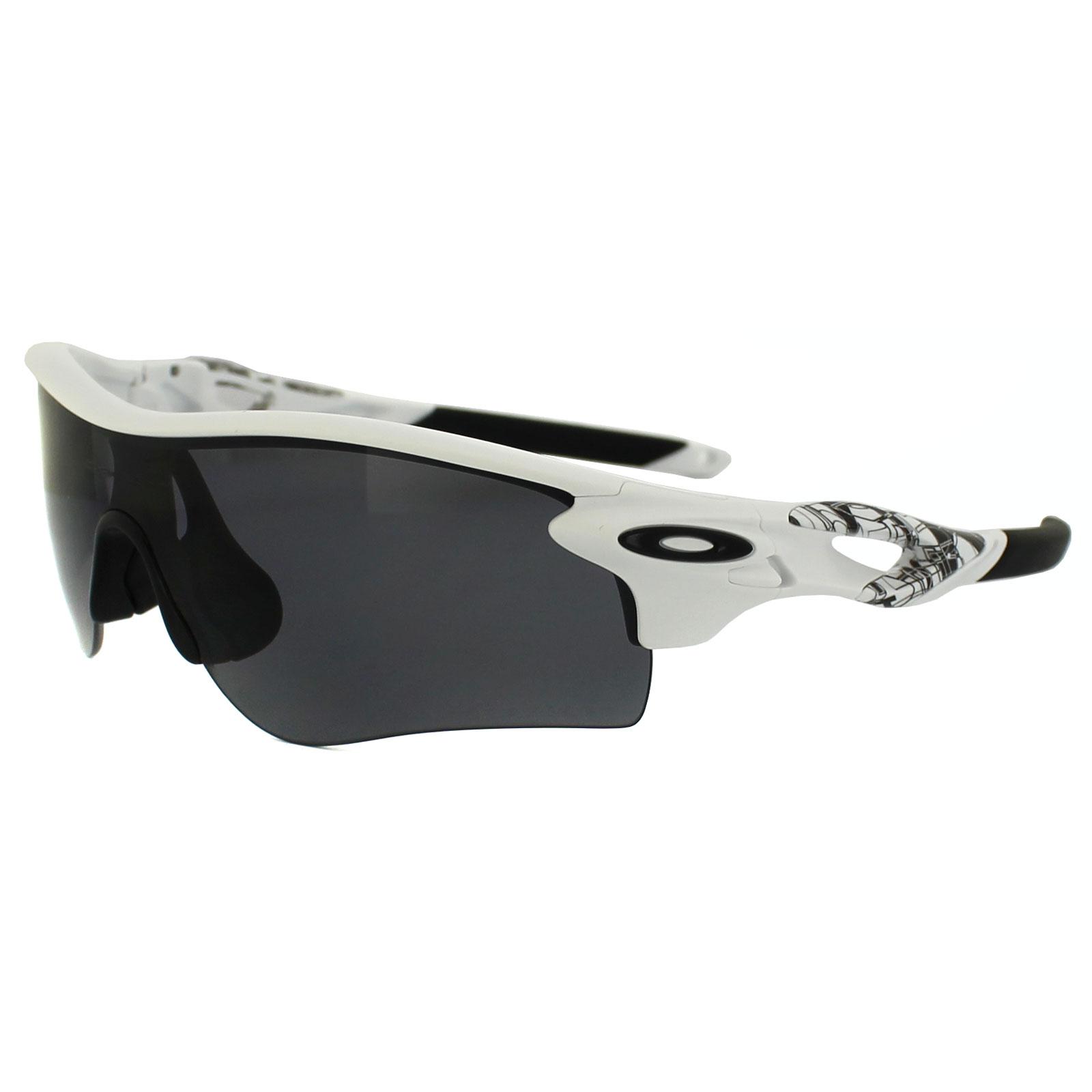 oakley radarlock polarized ot5o  Oakley Sunglasses Radarlock Path 9181 20 Matte White Grey Polarized VR28  Black  eBay