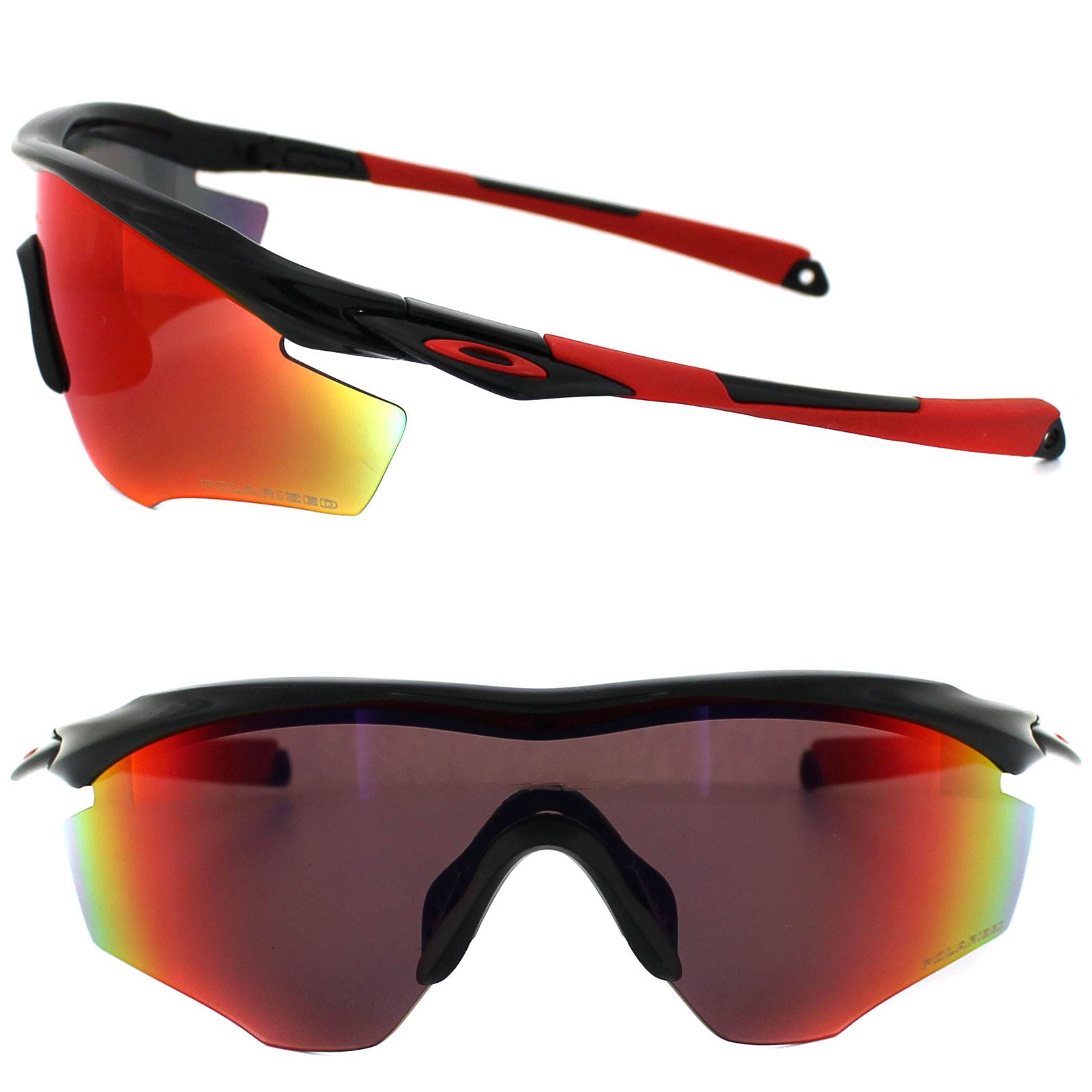 sentinel oakley sunglasses m2 frame oo9212 06 polished black oo red iridium polarized