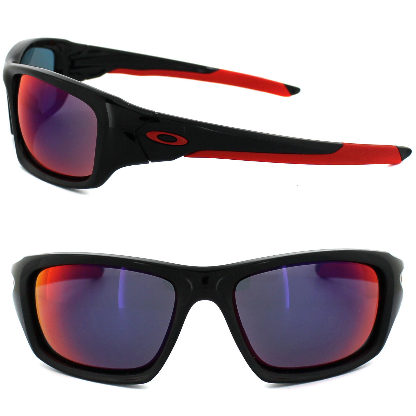 oakley red sunglasses  Oakley Sunglasses Valve OO9236-02 Polished Black Positive Red ...