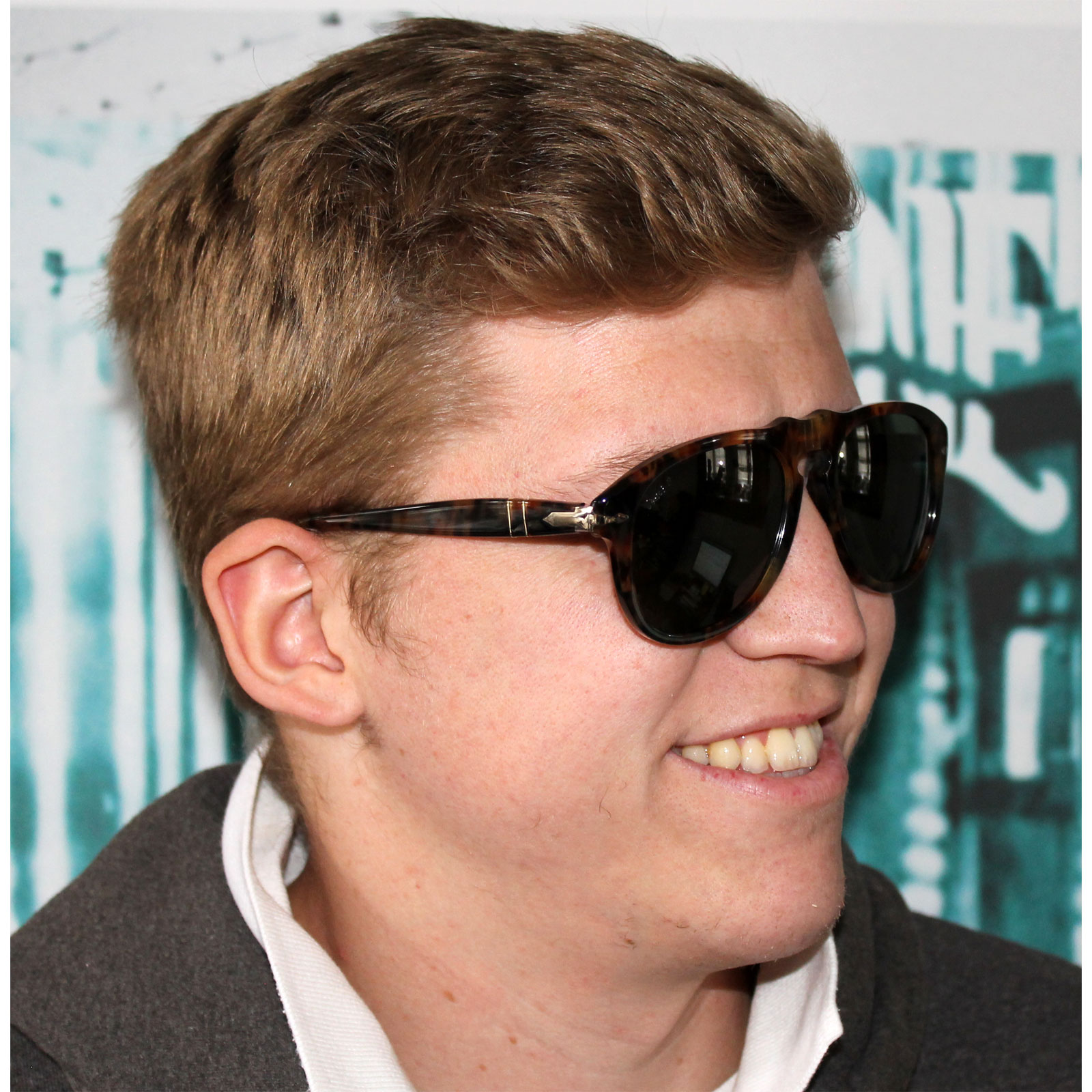 persol sunglasses 0649 108 58 spotted brown caffe green