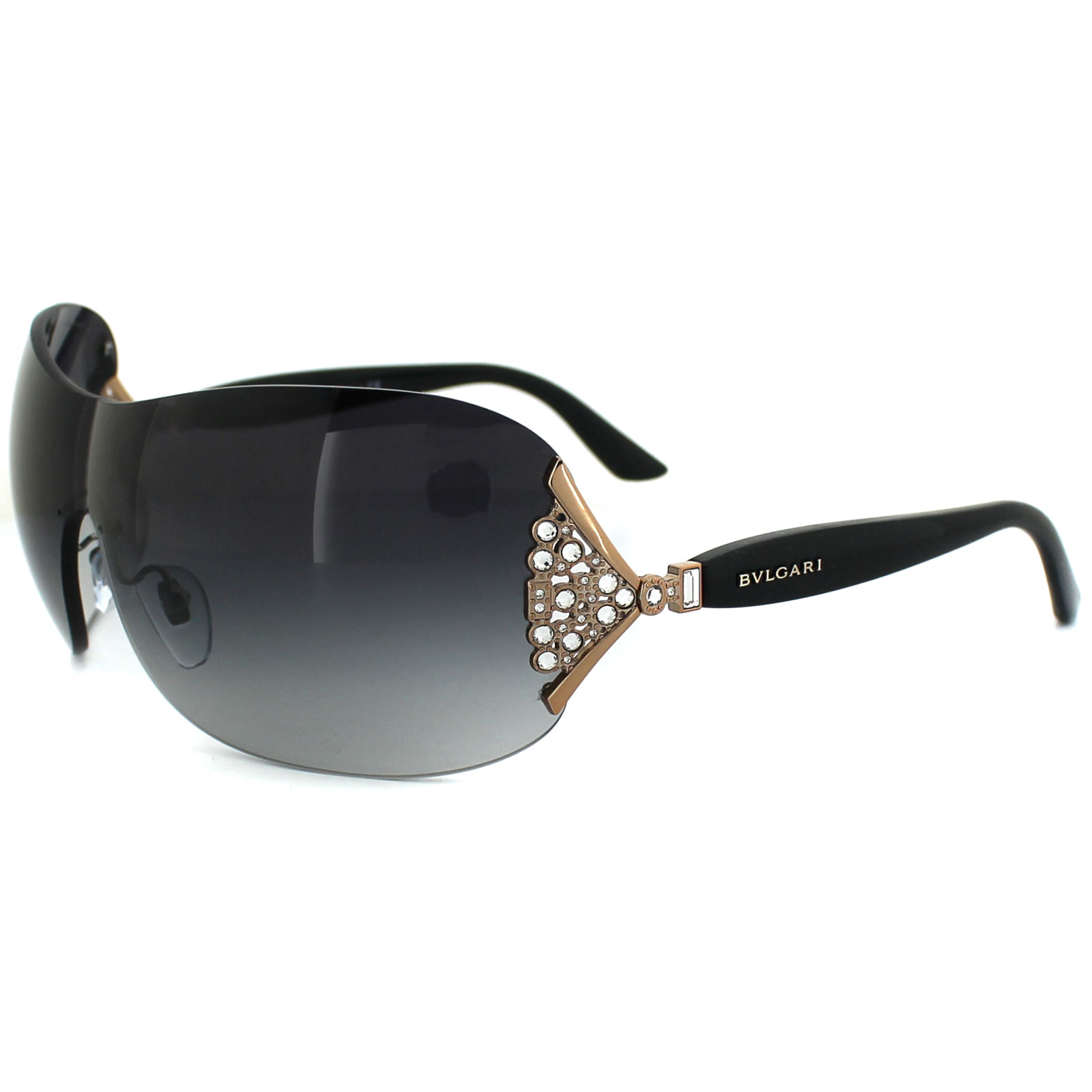 Bvlgari Sunglasses Gold Frame : Bvlgari Sunglasses 6061B 376/8G Gold & Black Grey Gradient ...
