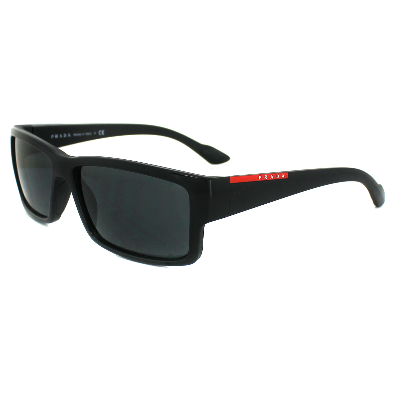 prada sport sunglasses 05os 1ab1a1 black grey. Black Bedroom Furniture Sets. Home Design Ideas
