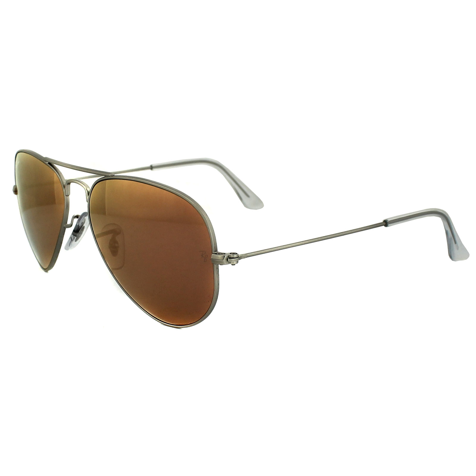 ray ban sunglasses aviator 3025 019 z2 silver brown mirror pink 55mm ebay. Black Bedroom Furniture Sets. Home Design Ideas