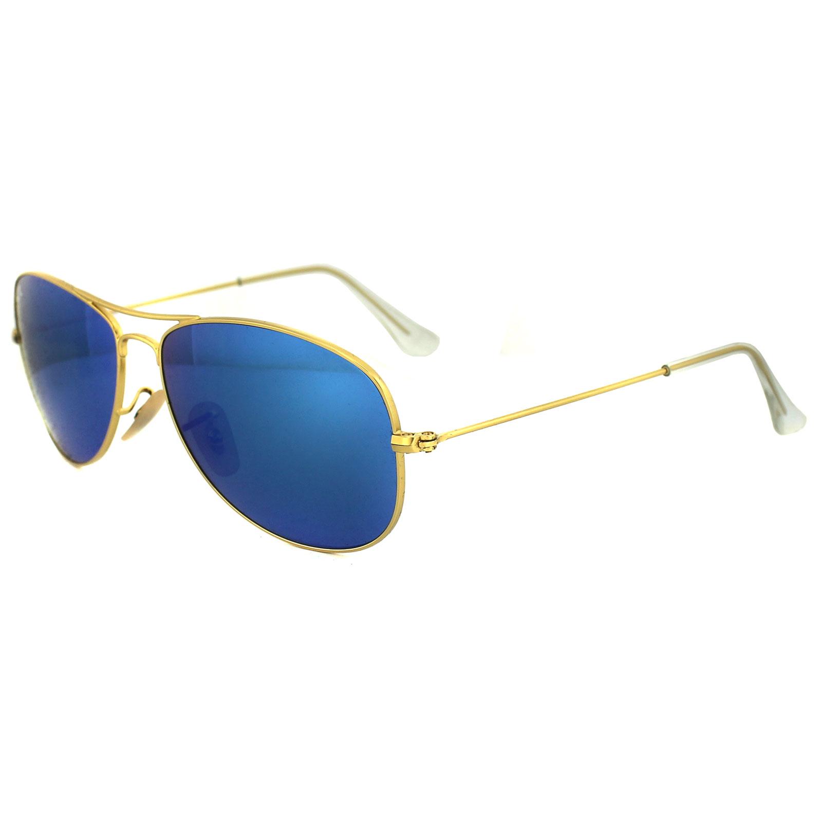 ray ban lunettes de soleil cockpit 3362 112 17 dor matte mirroir bleue ebay. Black Bedroom Furniture Sets. Home Design Ideas