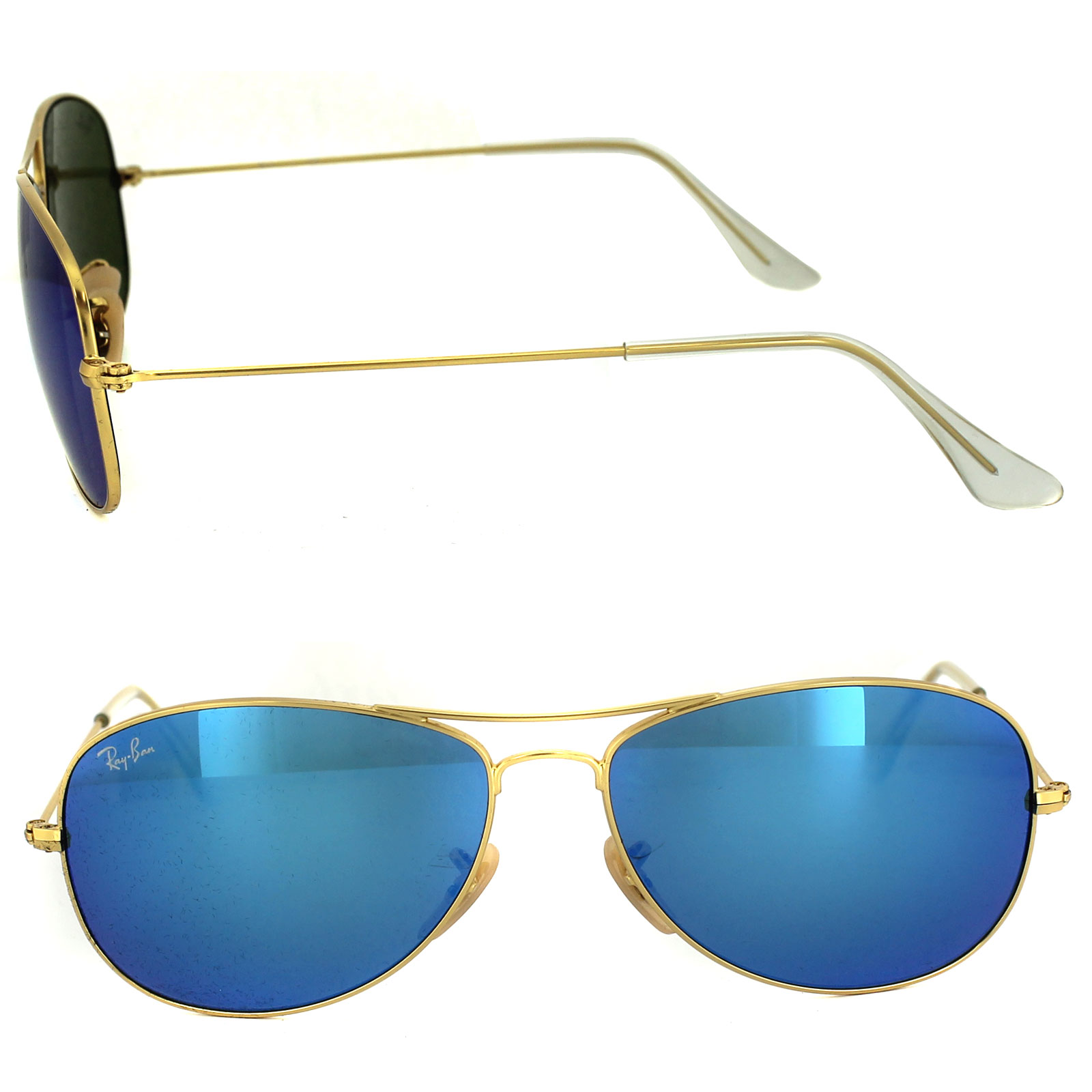 rayban 3362 lpyn  Sentinel Ray-Ban Sunglasses Cockpit 3362 112/17 Matt Gold Blue Mirror