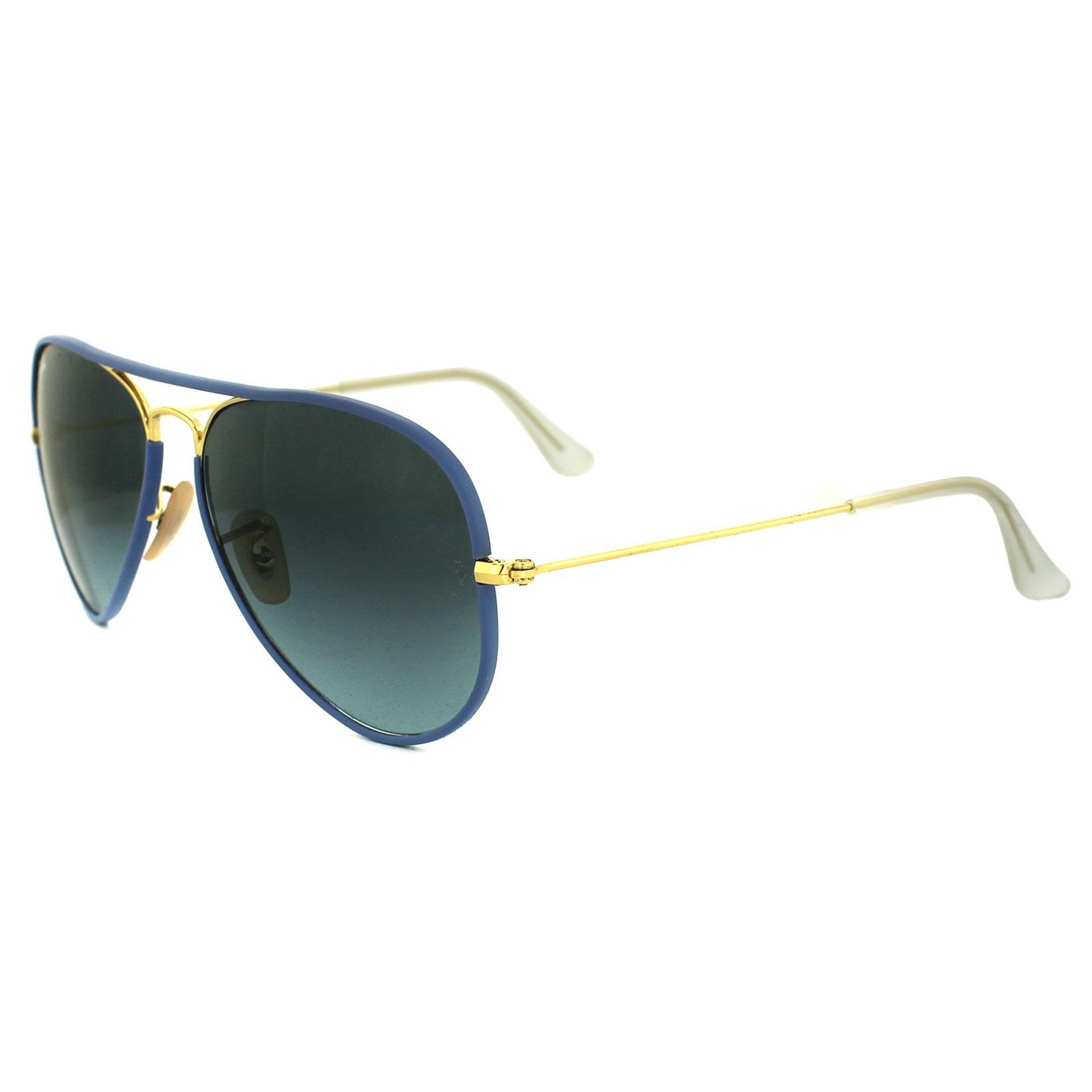 f6c7c542a1e Ray-Ban Sunglasses Aviator Full Colour 3025JM 001 4M Gold  u0026amp  Blue