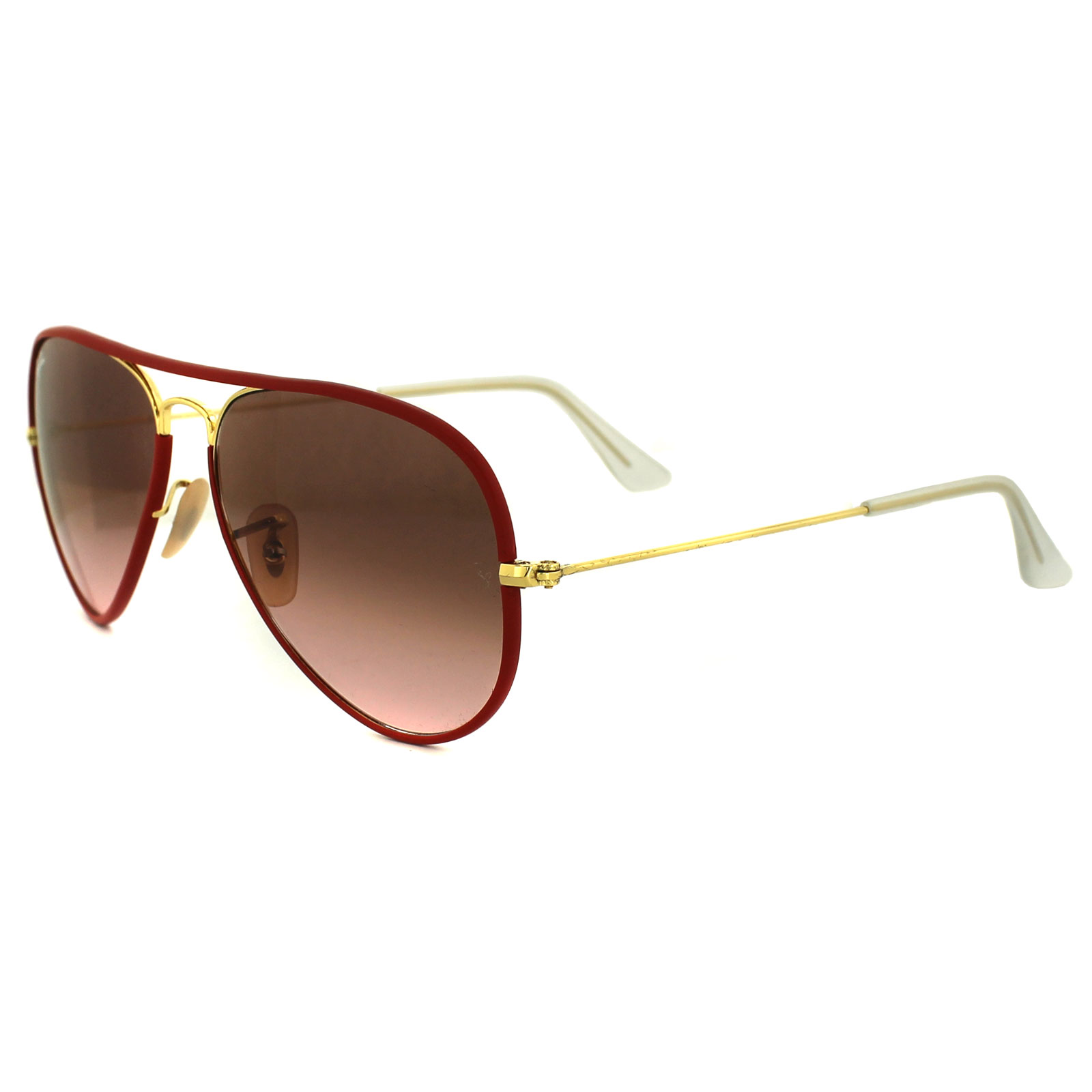 60c0716b8dfb Ray-Ban Sunglasses Aviator Full Colour 3025JM 001 X3 Gold   Red Pink Brown