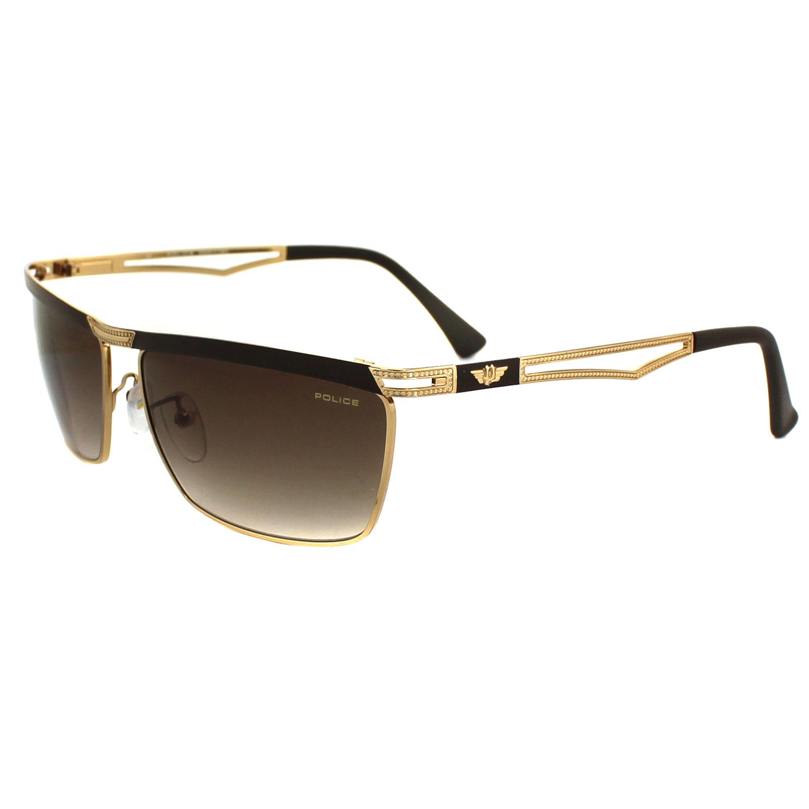 Gold Frame Police Sunglasses : Police Sunglasses Rush 2 8755 0F93 Gold Brown Gradient eBay