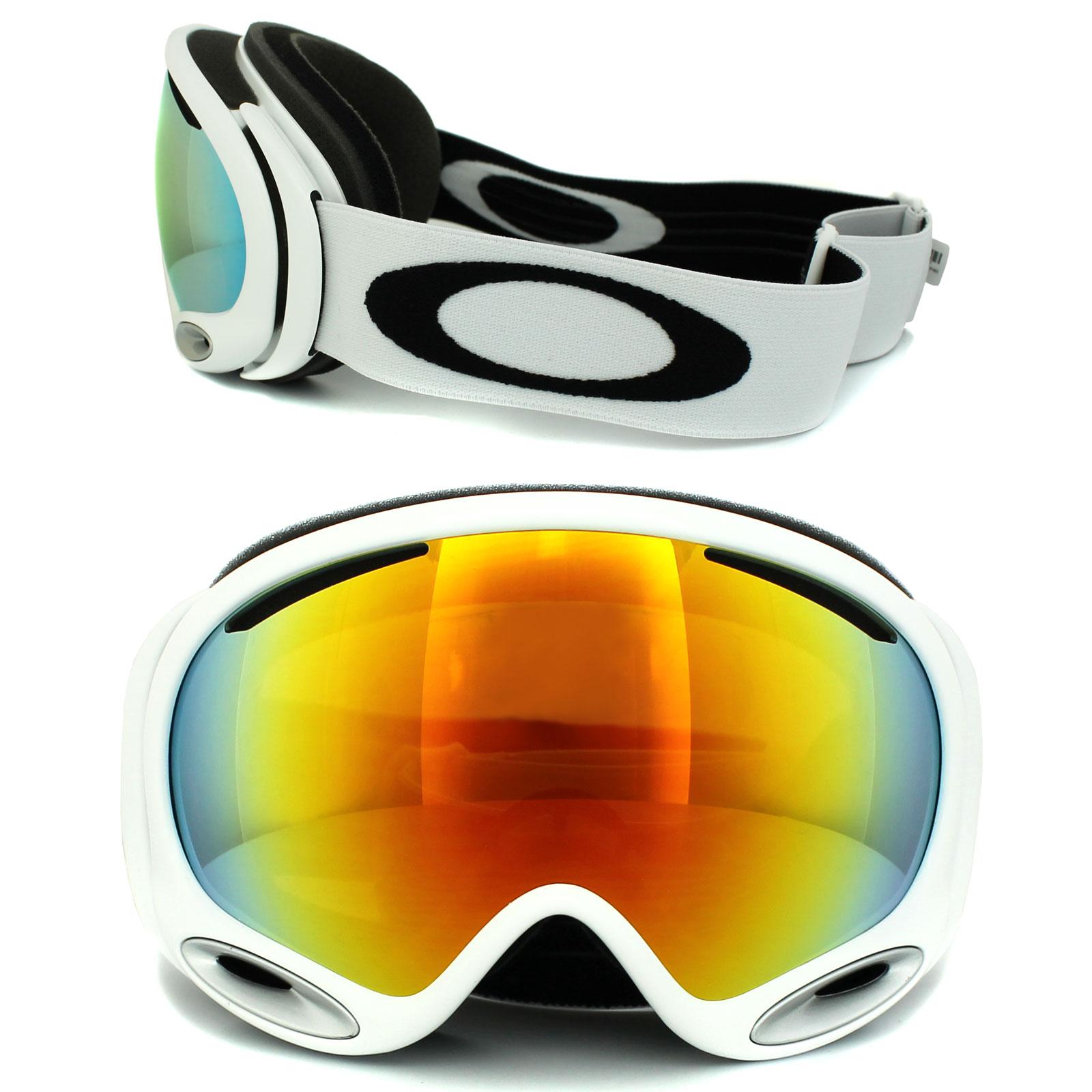 oakley ski goggles a frame  Oakley Ski Goggles A Frame 2.0 59-568 Polished White Fire Iridium ...