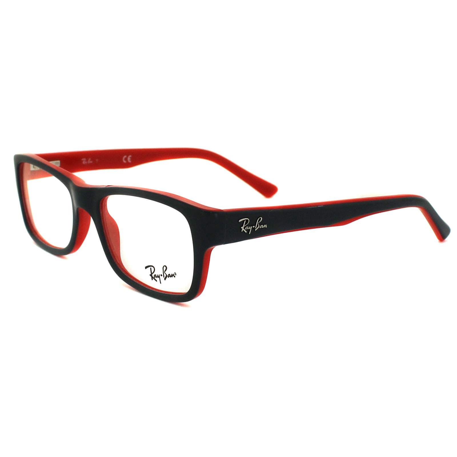 sentinel ray ban glasses frames 5268 5180 top grey on red 50mm