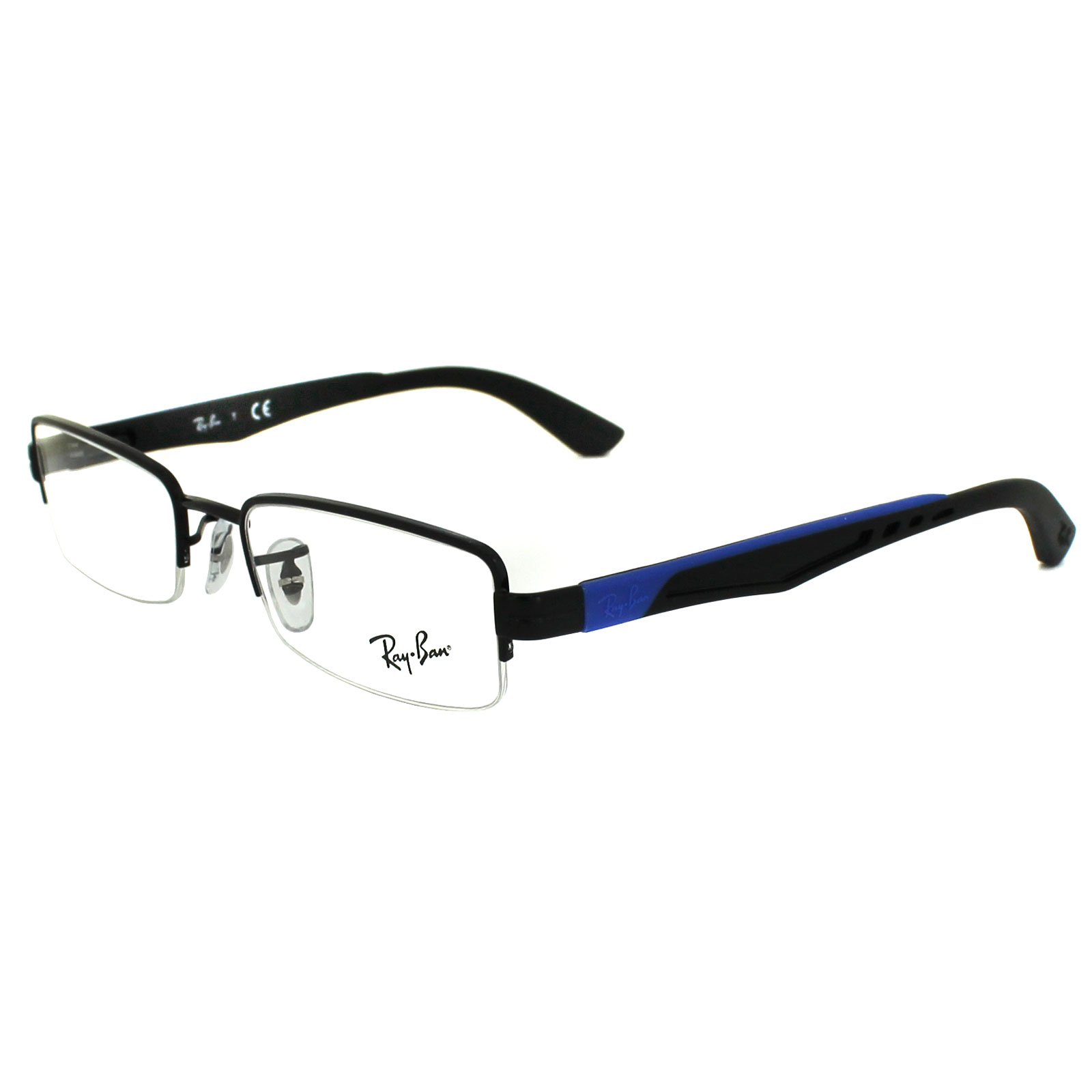 Ray-Ban Glasses Frames 6264 2509 Black Blue 49mm eBay