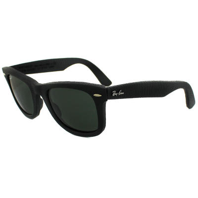 Ray-Ban 2140QM Wayfarer Leather Sunglasses