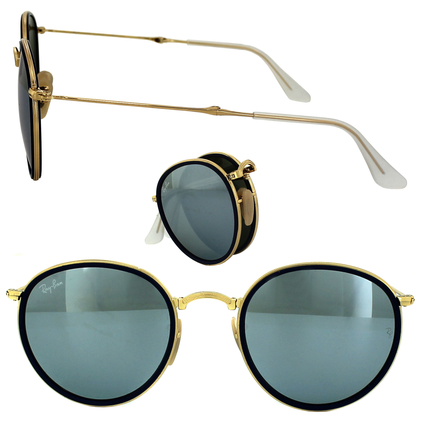 Cheap Ray Ban Round Folding 3517 Sunglasses Discounted
