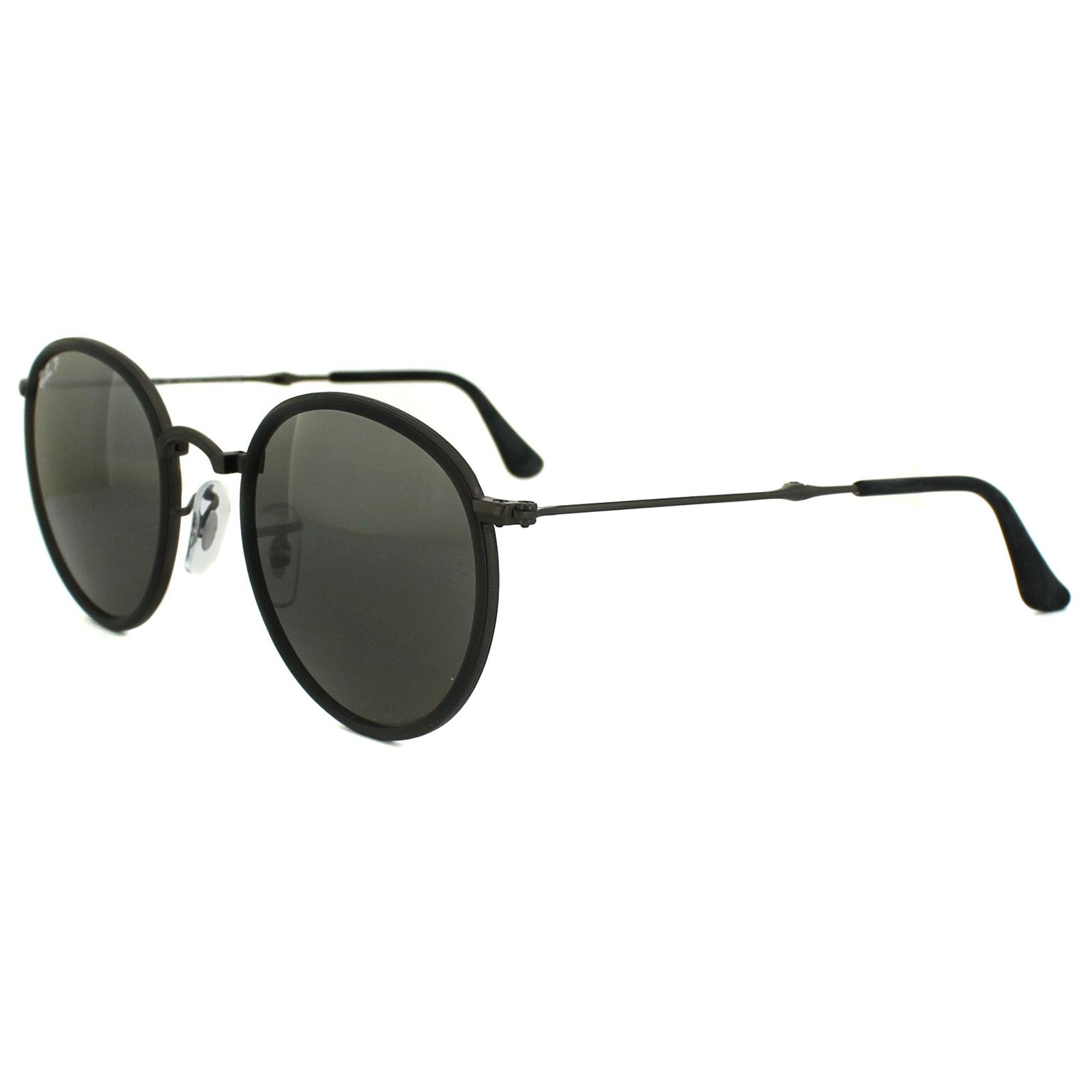 ray ban sonnenbrille round folding 3517 029 n8 gunmetal. Black Bedroom Furniture Sets. Home Design Ideas